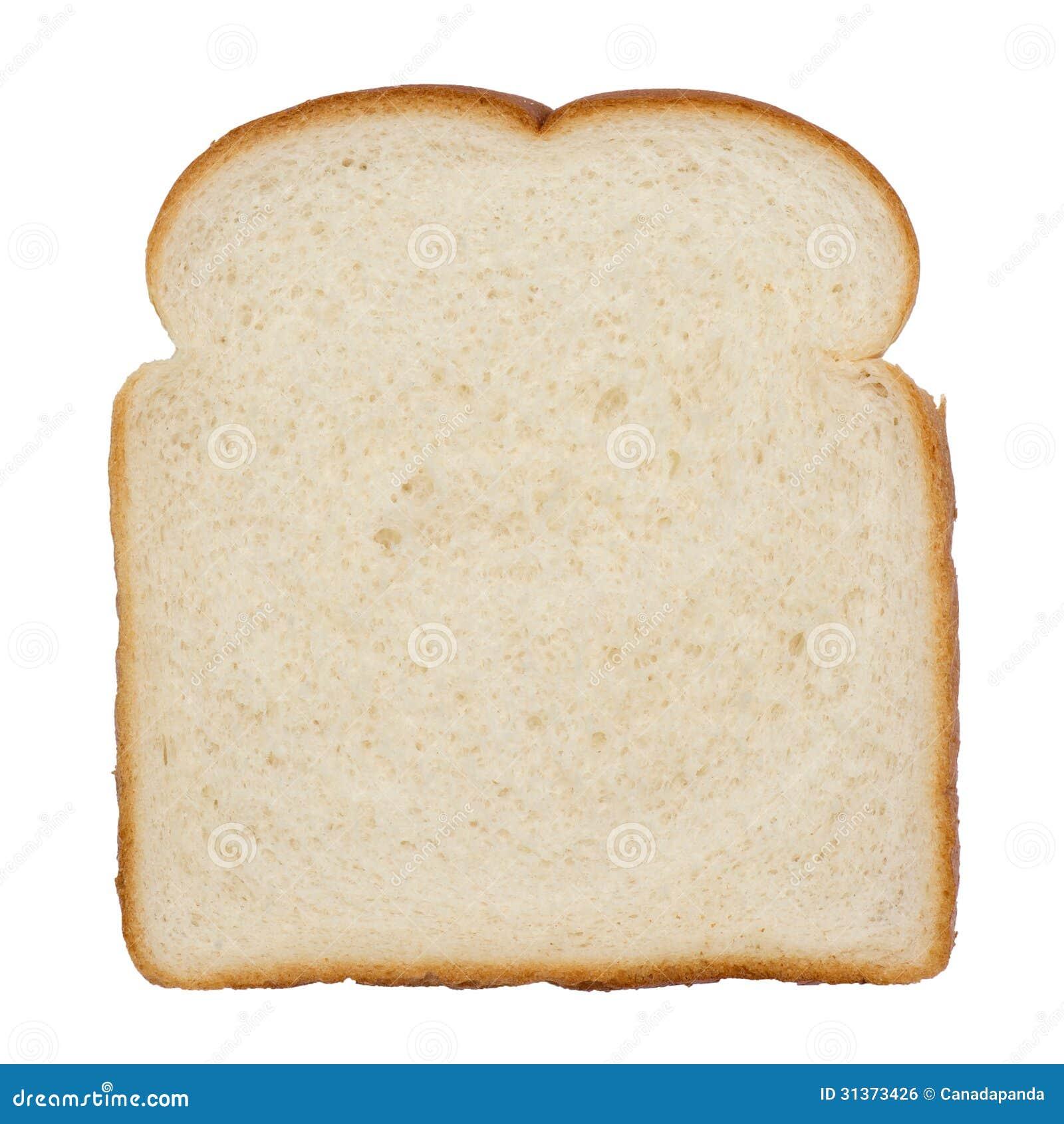 Fatia do pão branco