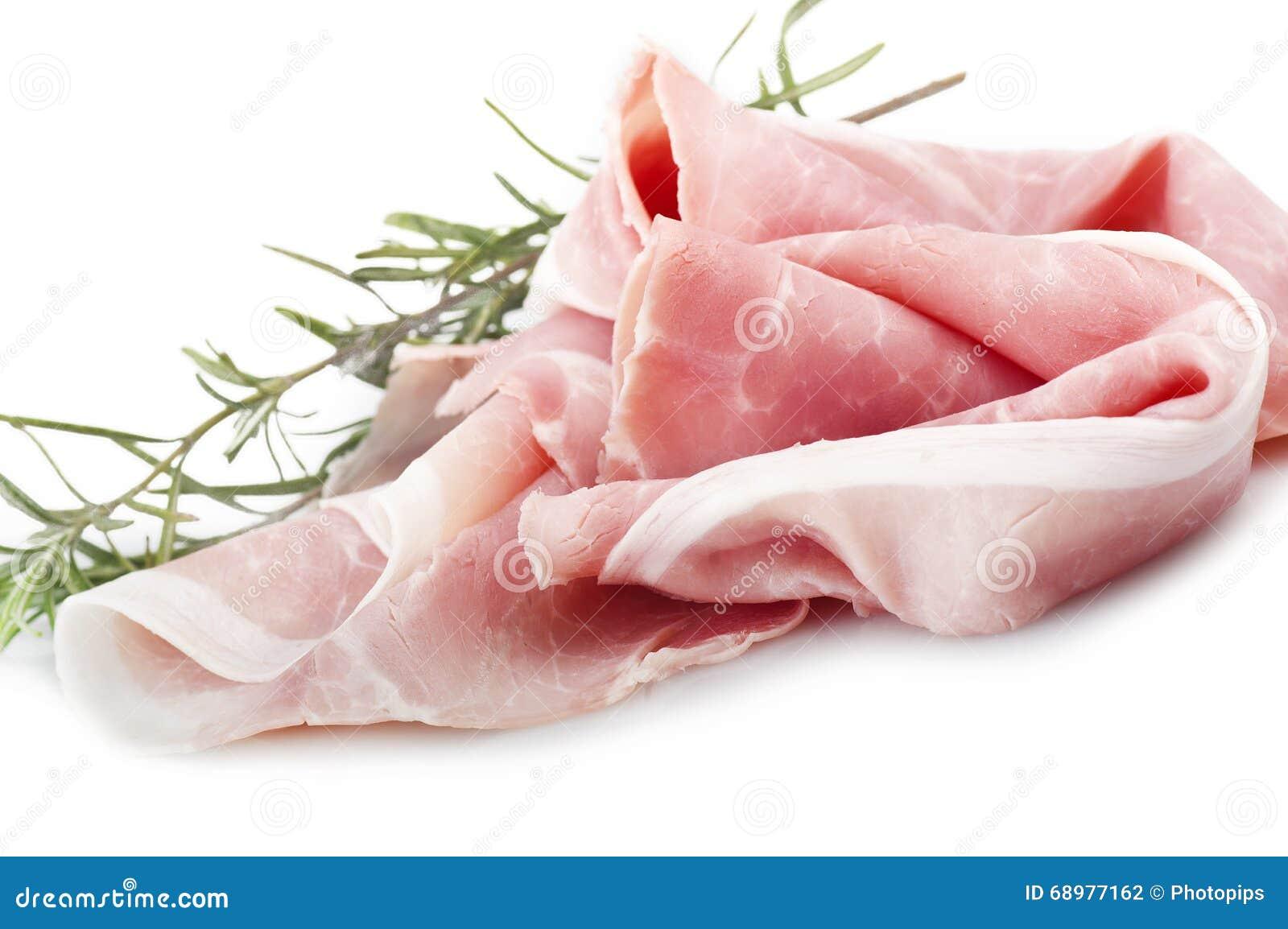 Fatias do presunto da carne de porco