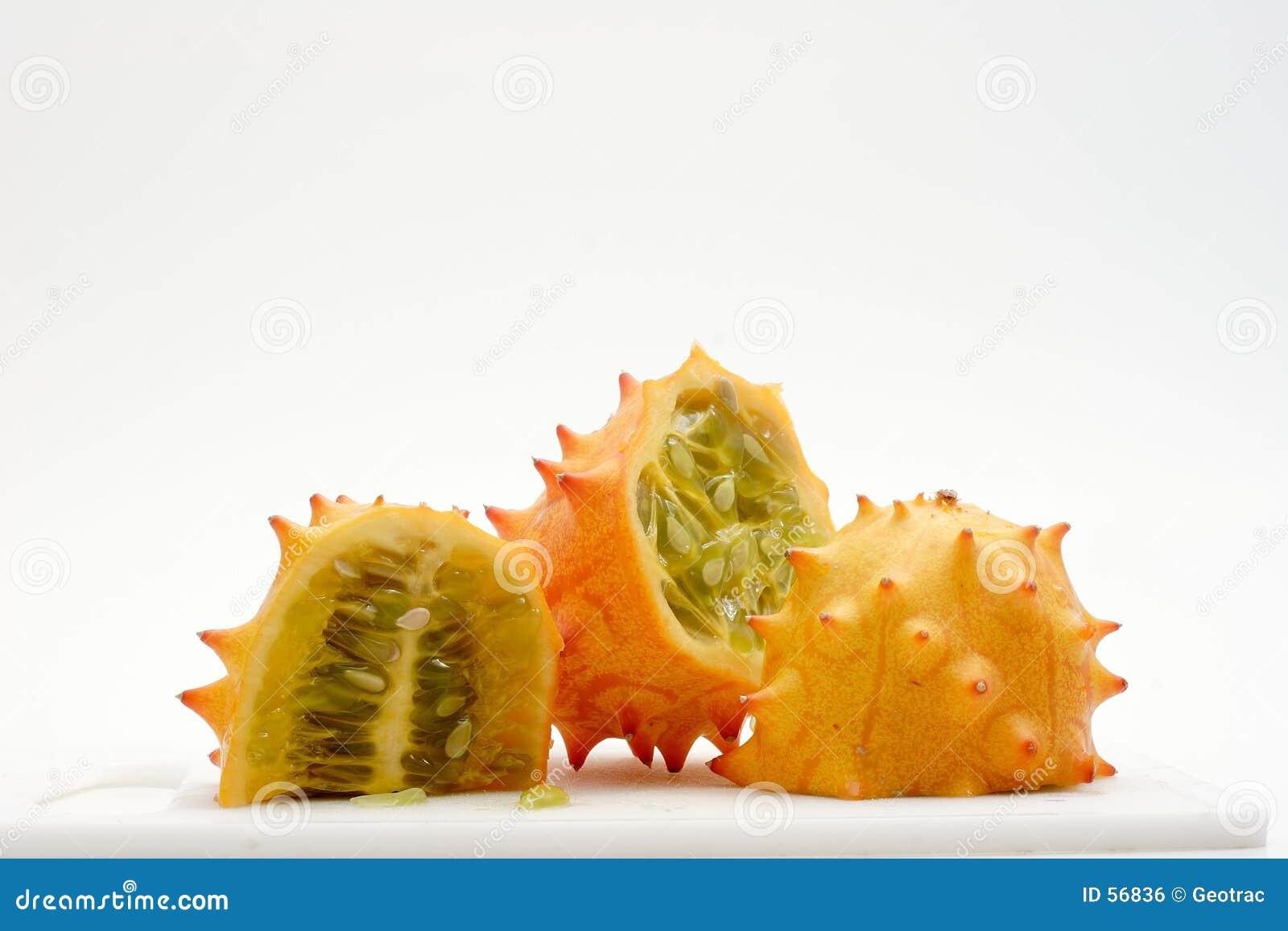 Fatias exóticas da fruta