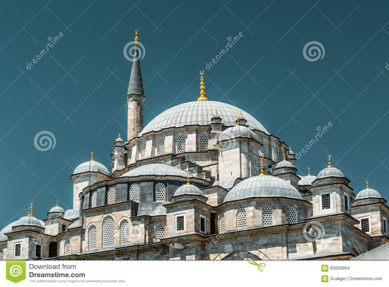 Download The Fatih Mosque (Conqueror's Mosque) In Istanbul Stock Photo - Image of muslim, famous: 65606994