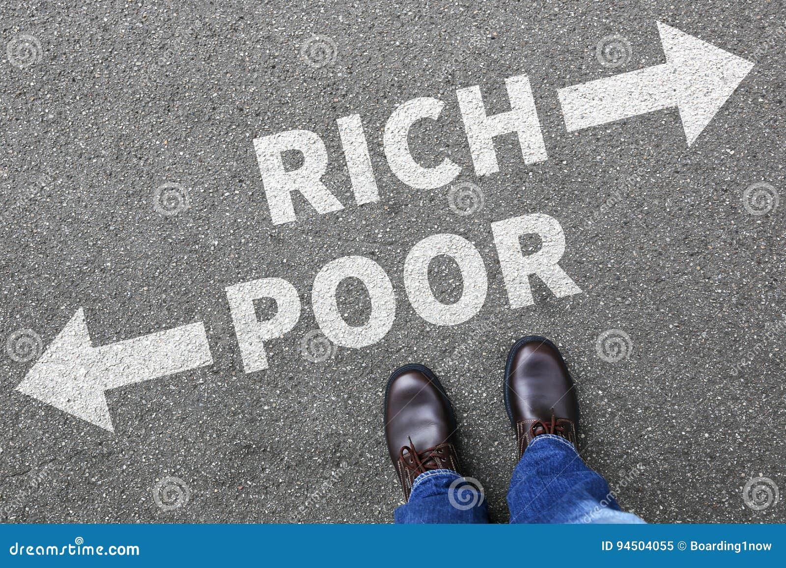 Fattigt rikt armod finansierar lyckade pengarbu för finansiell framgång