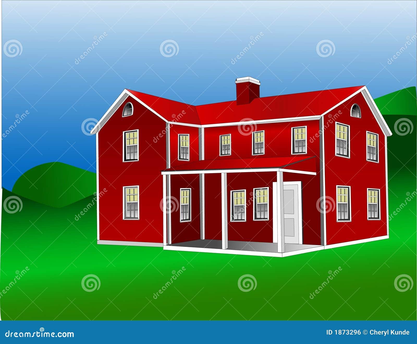 Fattoria americana 1 illustrazione vettoriale for 1 piani di fattoria storia con avvolgente portico