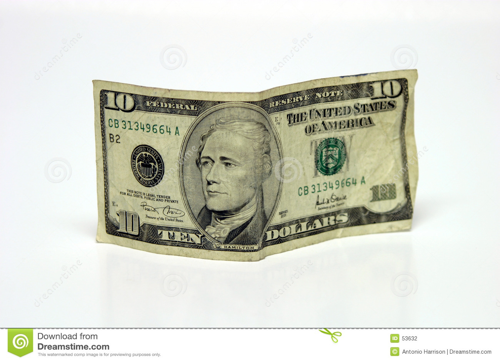 Fattura del dollaro dieci