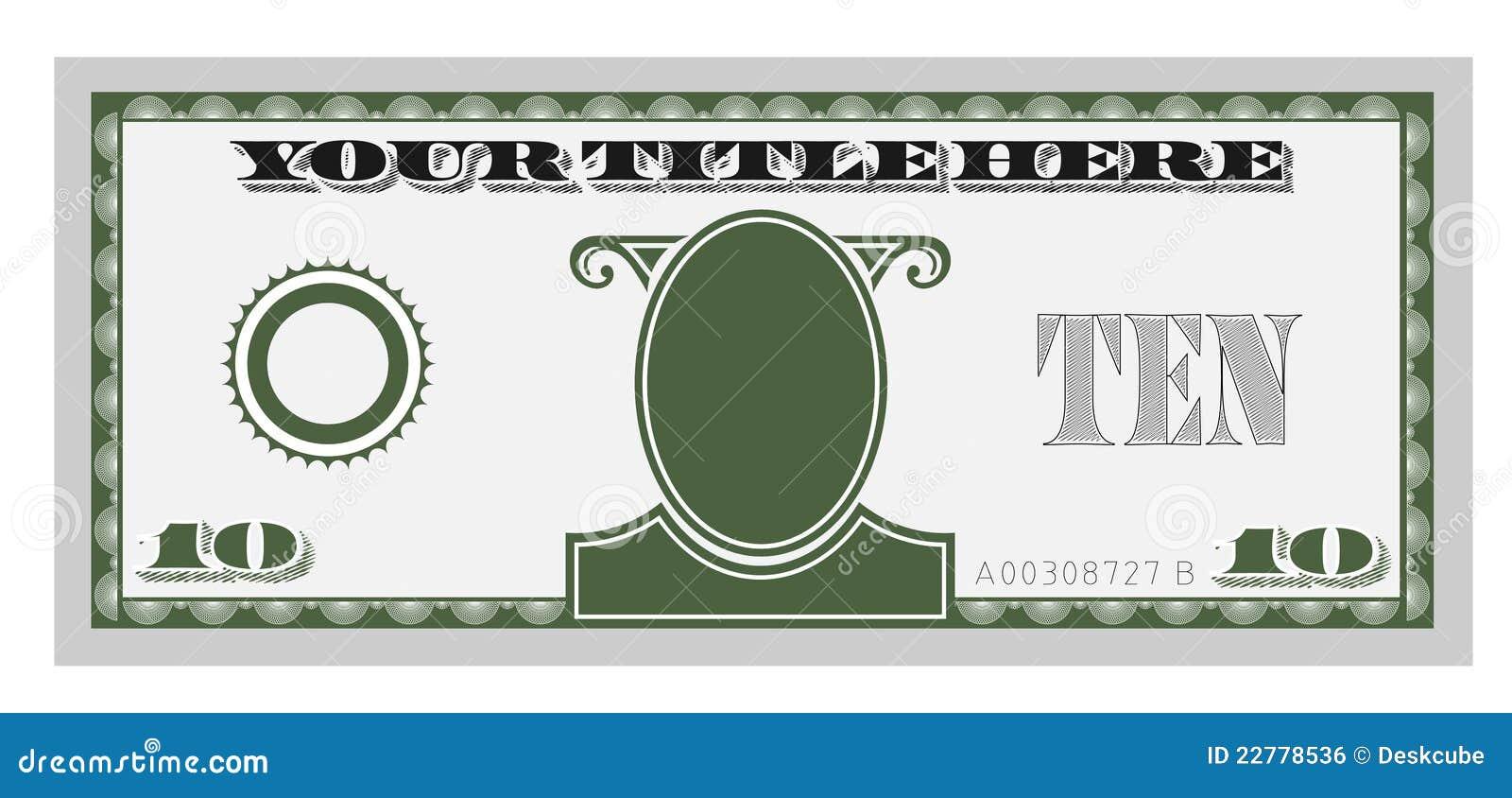 Fattura di soldi dieci