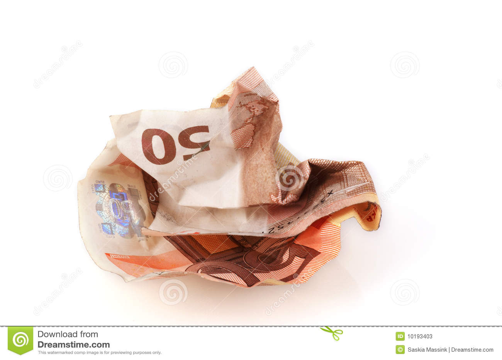 Fattura sgualcita dell euro 50.