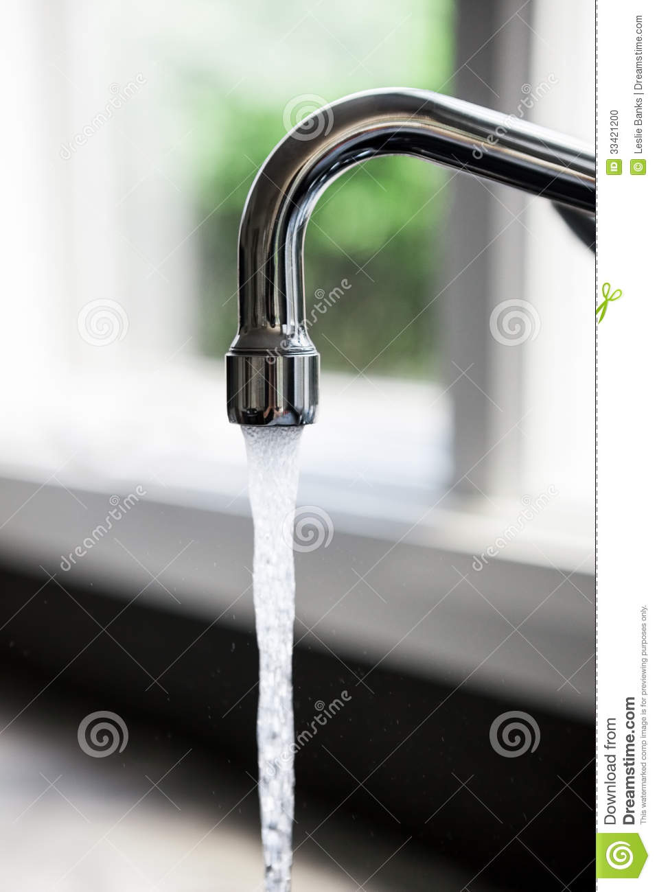Faucet With Running Water Stock Photo Image 33421200