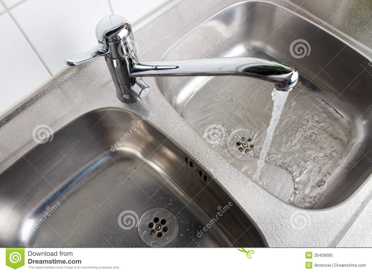 Faucet with washbasin stock image. Image of faucet, drain - 30409085