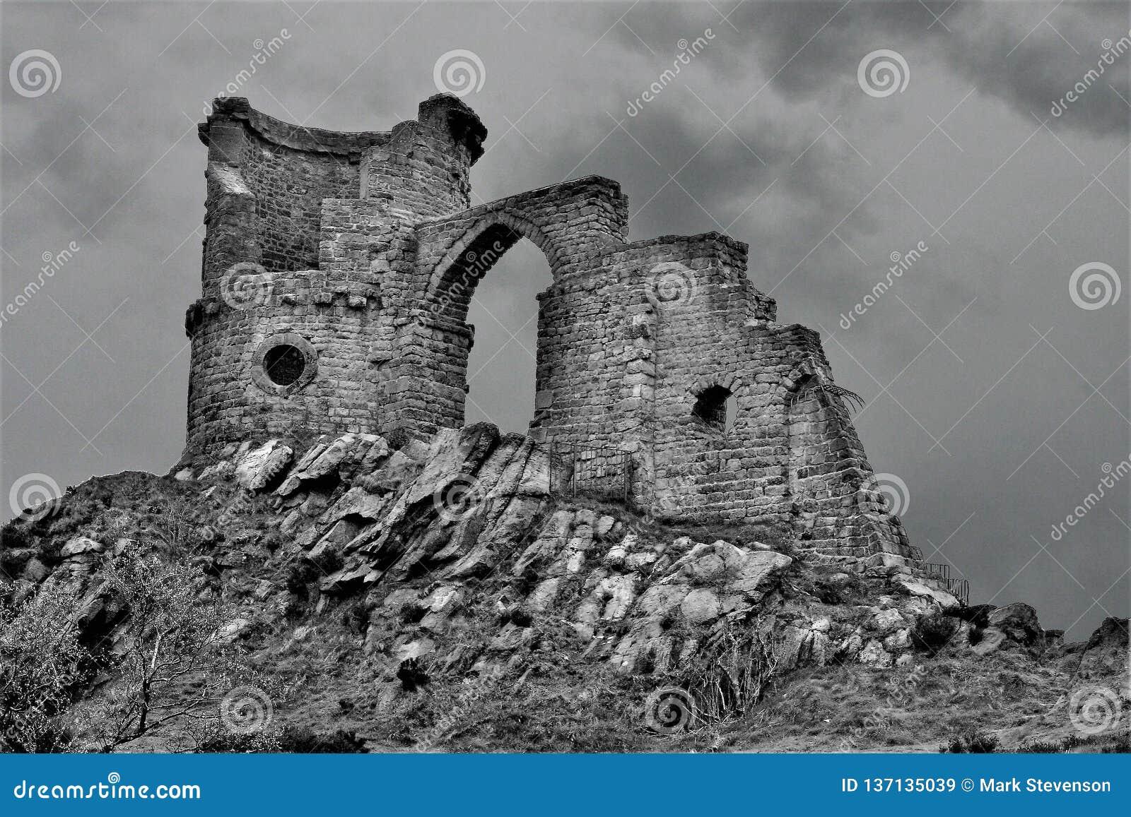 Fauchez le château de cannette de fil, sur le Staffordshire Cheshire Borders