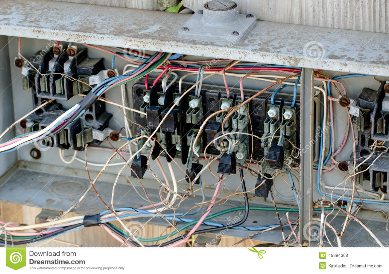Faulty Electrical Wiring Example Diagram Hazard Stock Photo Image Of Disorder 49394368 Rh Dreamstime Com Definition Leak