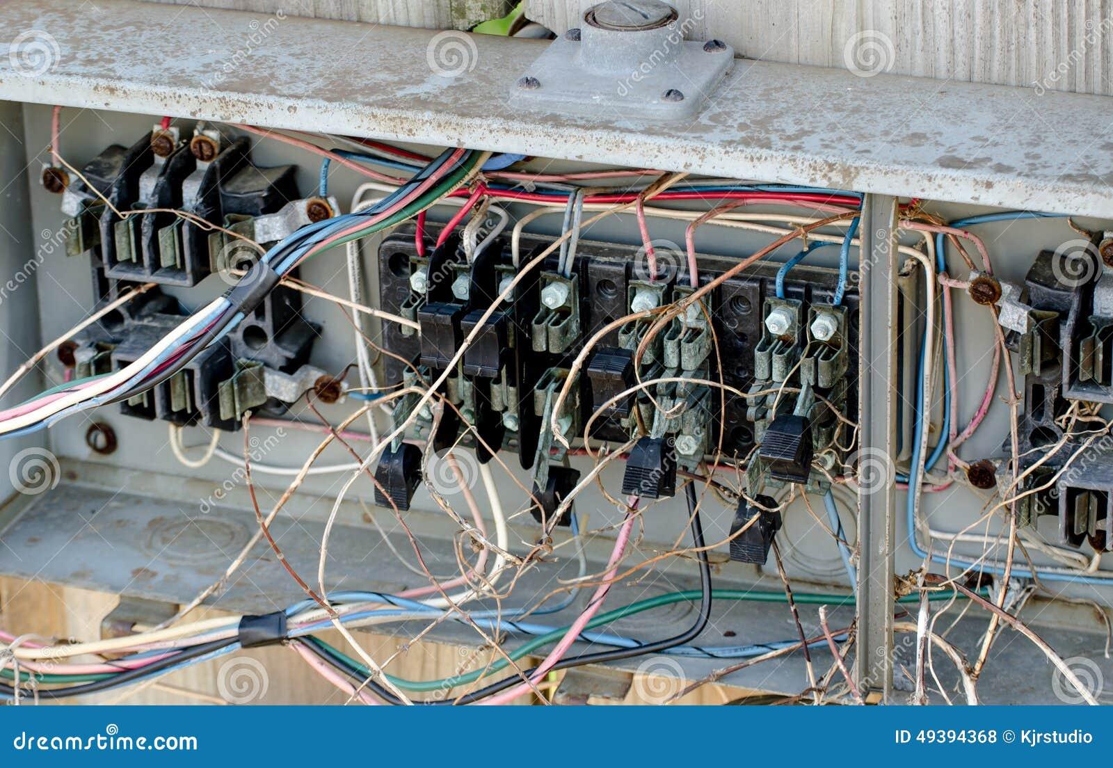 Electrical Hazard Wiring Stock Photo Image 49394368
