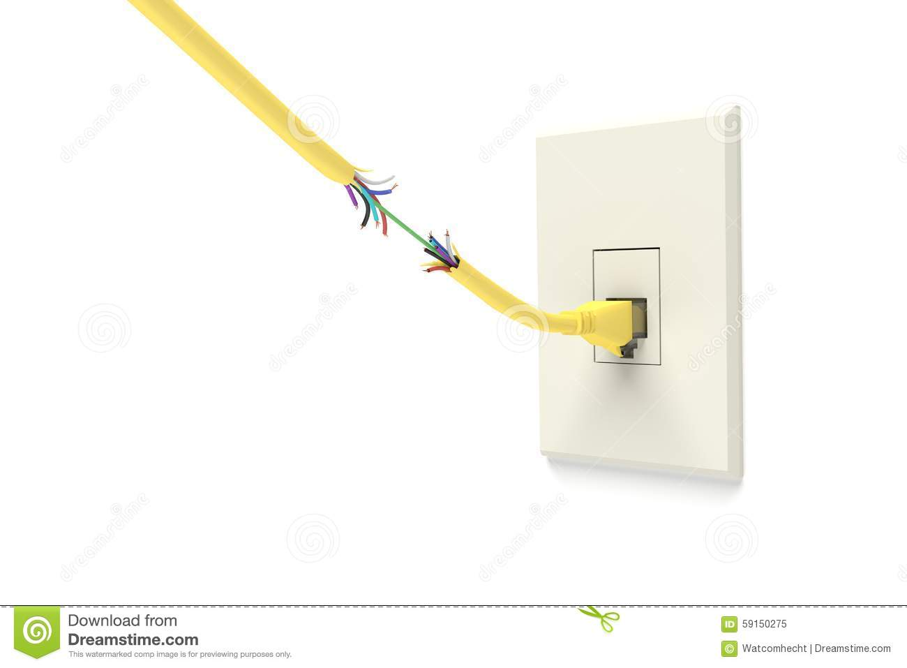 Faulty Network stock illustration. Illustration of isolated - 59150275