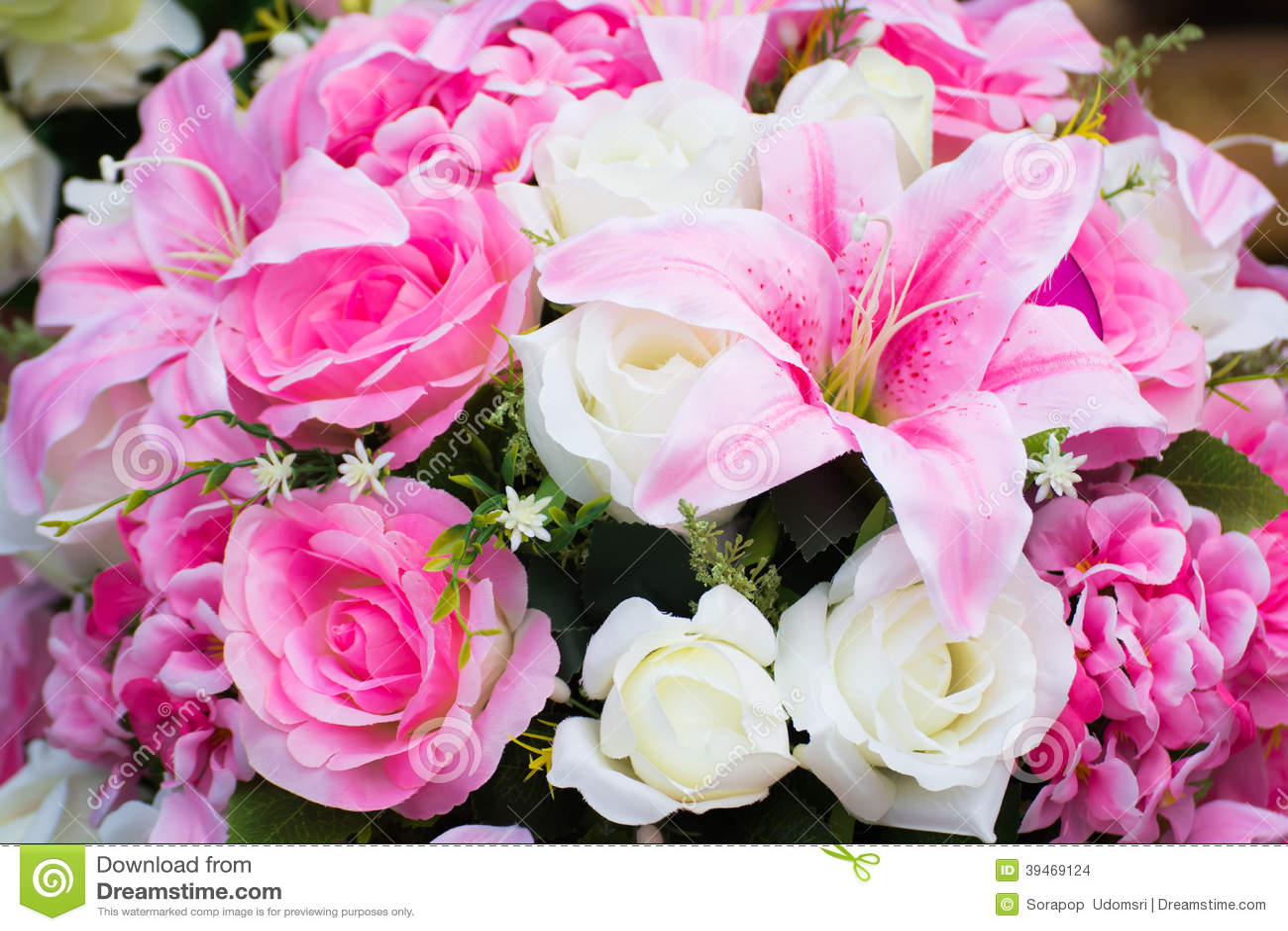 fausses fleurs photo stock - image: 39469124