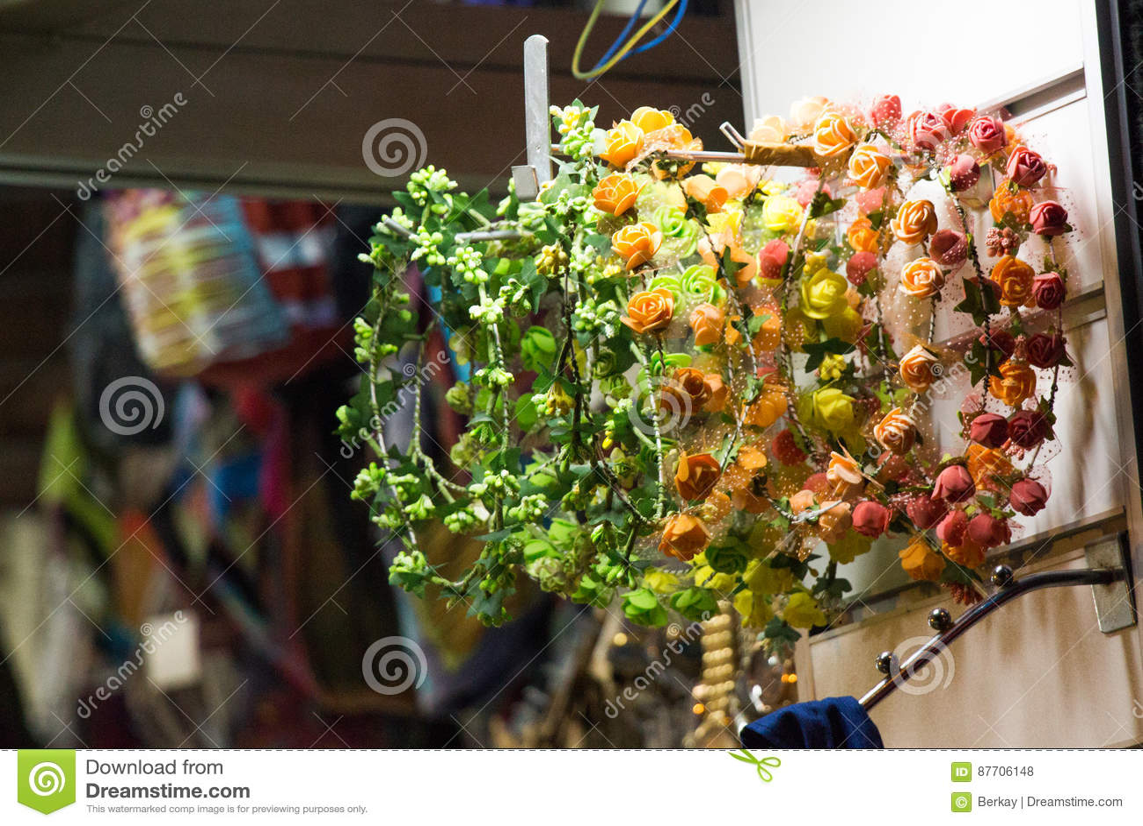 Fausses fleurs pour des buts décoratifs