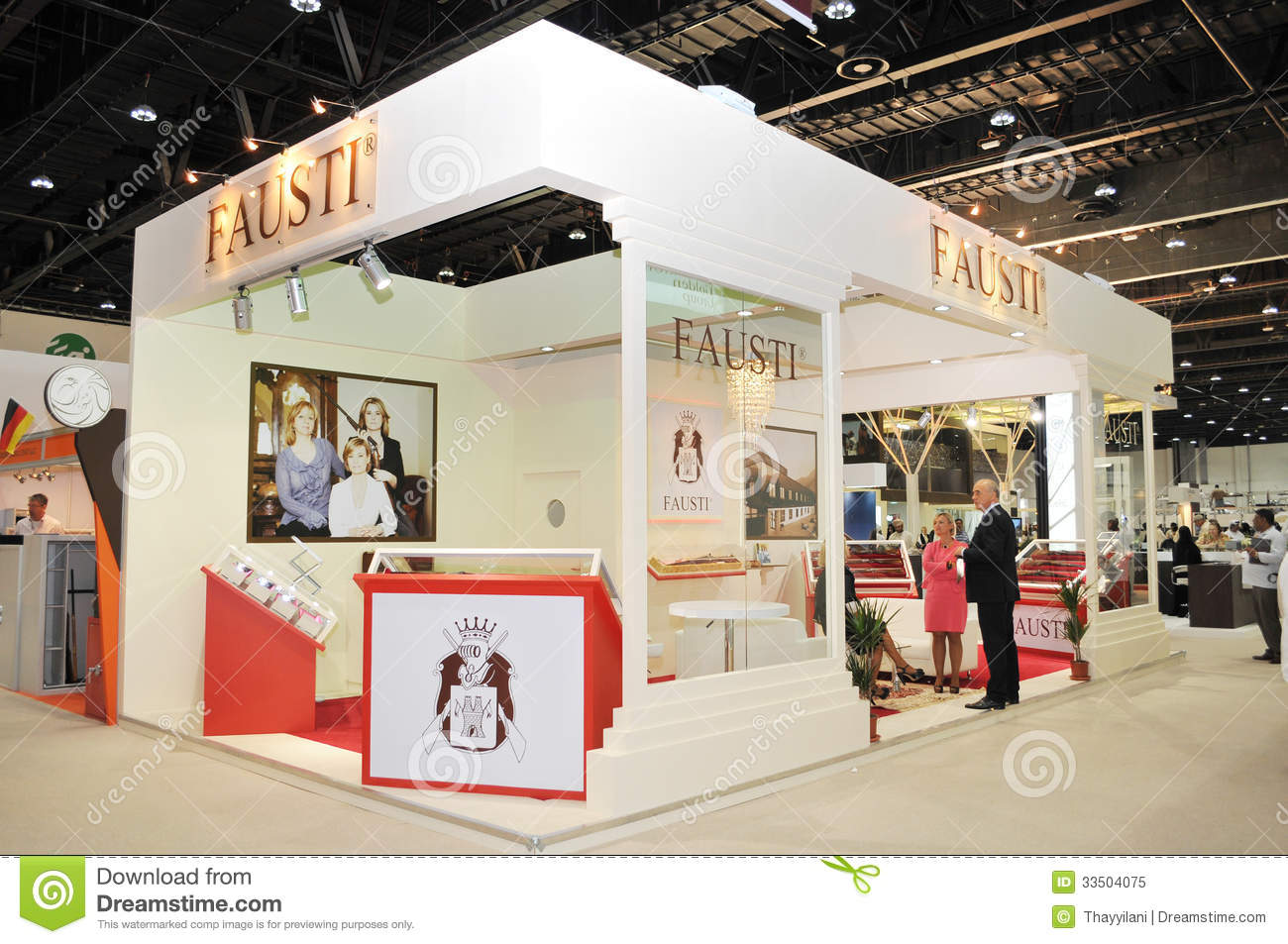 Outdoor Exhibition Stand Design : Fausti pavilion at abu dhabi international hunting and