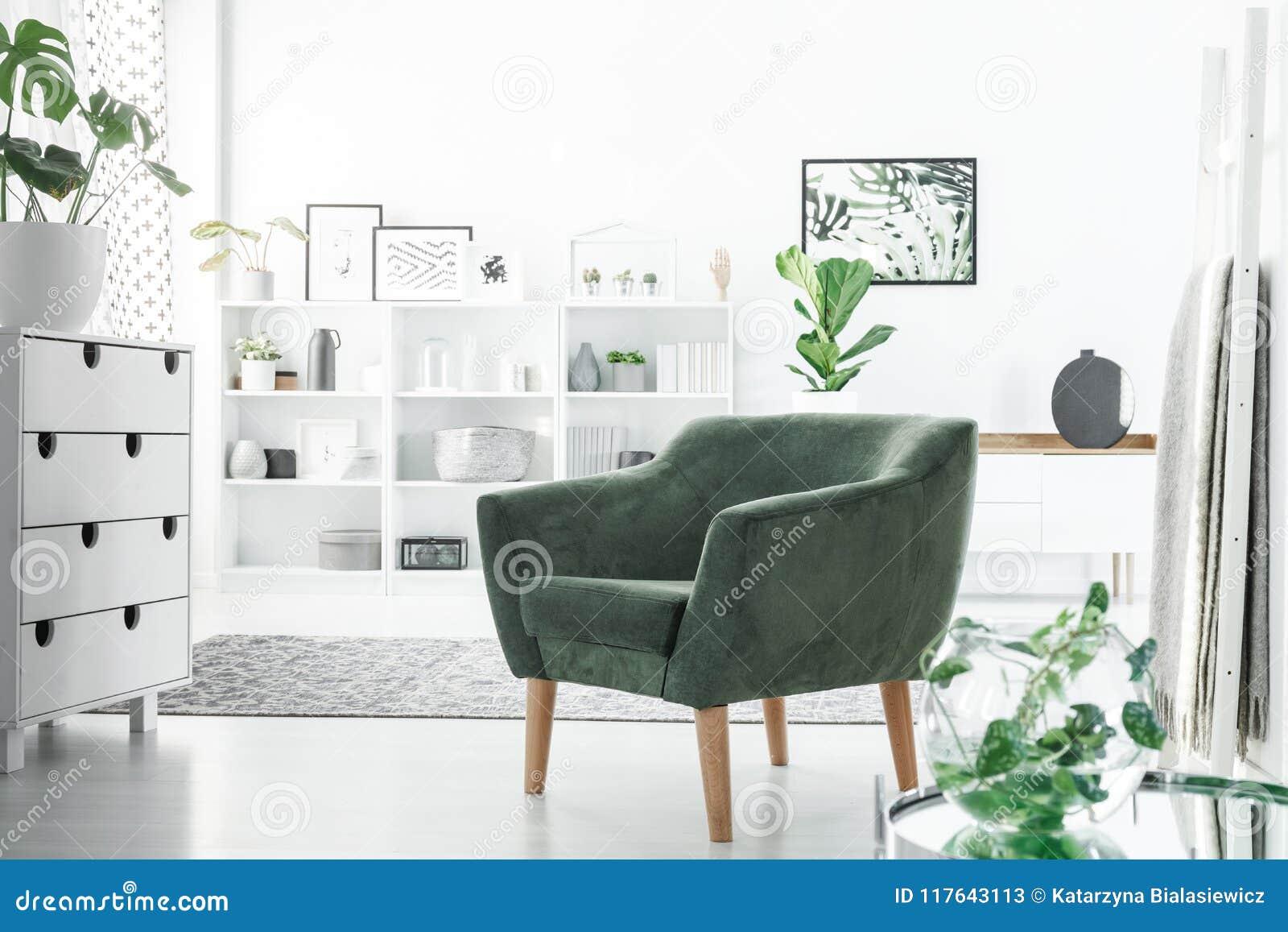 Fauteuil Dans La Chambre Blanche Image stock - Image du gris ...