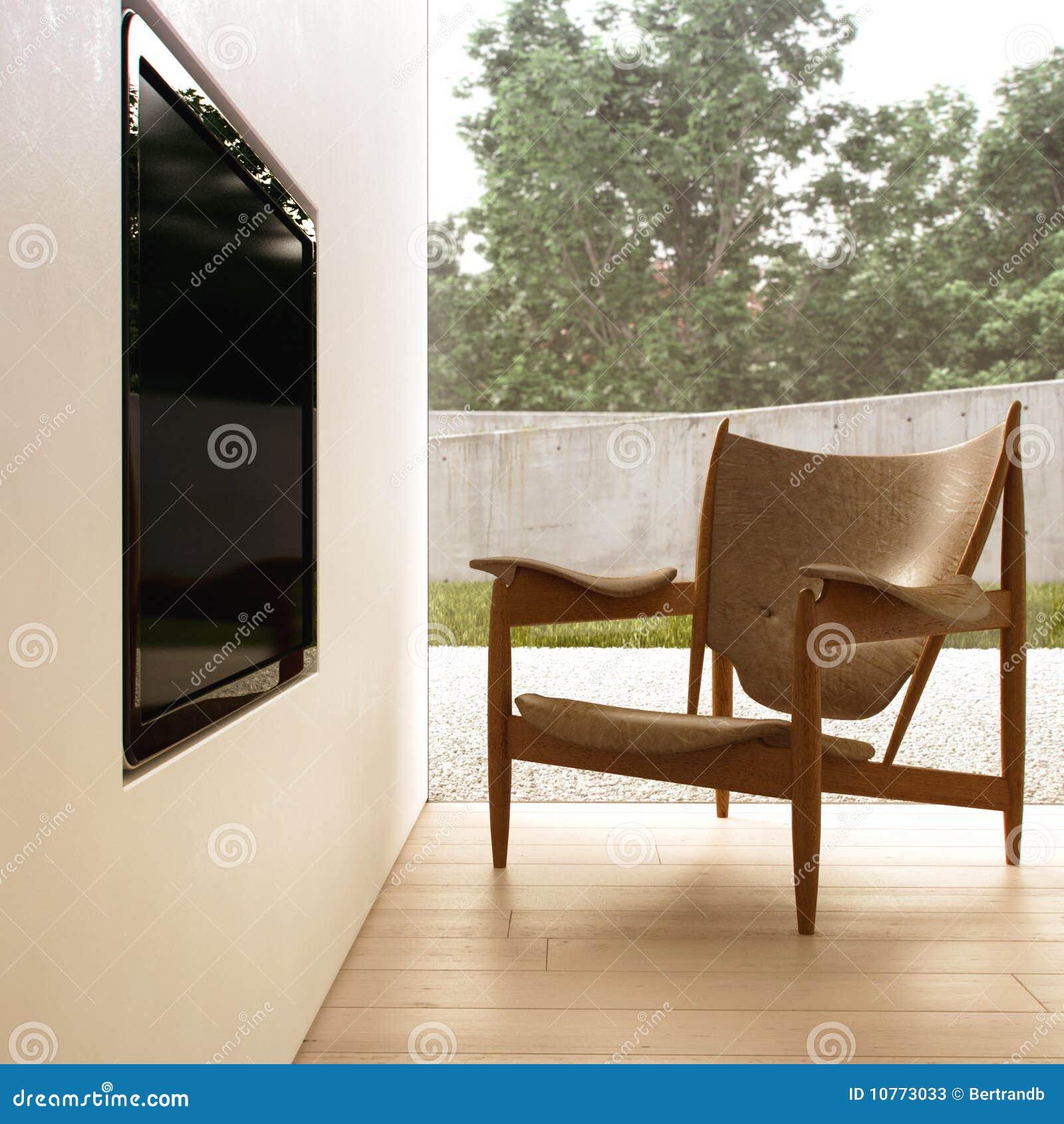 Fauteuil Createur fauteuil de créateur et télévision d'affichage à cristaux liquides