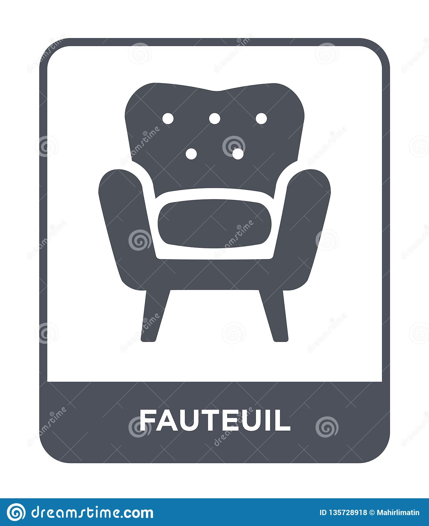 Retro Design Fauteuil.Fauteuil Icon In Trendy Design Style Fauteuil Icon Isolated On