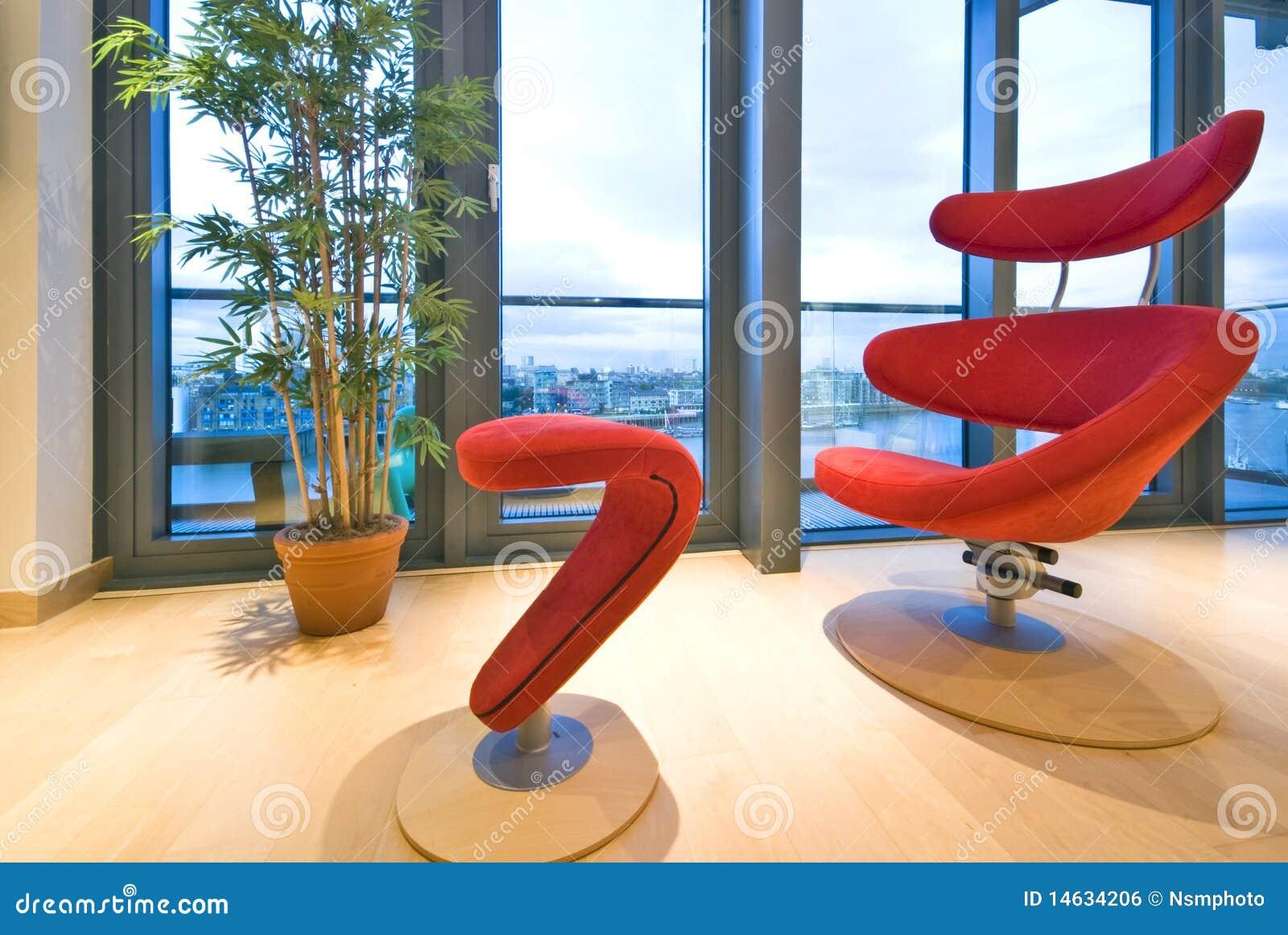 Fauteuil Createur fauteuil rouge de créateur photo stock. image du confort - 14634206