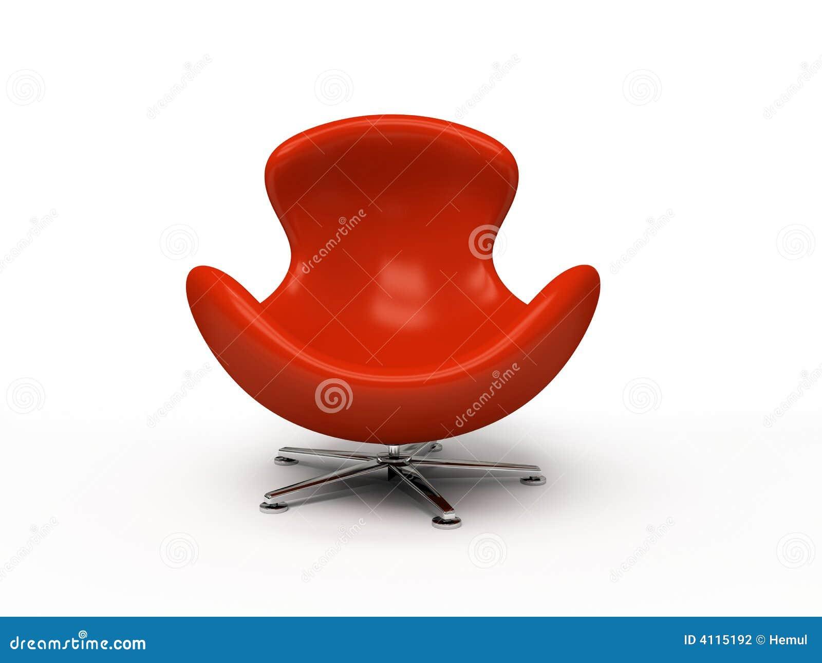 fauteuil rouge en cuir photographie stock image 4115192. Black Bedroom Furniture Sets. Home Design Ideas