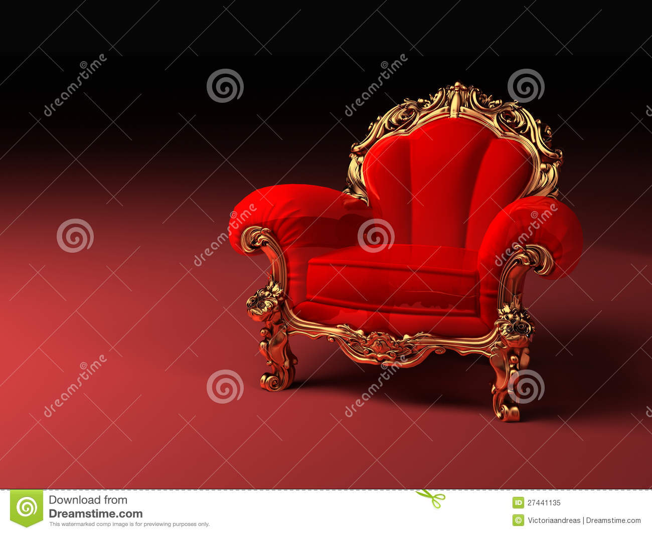 fauteuil rouge royal avec la trame photo libre de droits image 27441135. Black Bedroom Furniture Sets. Home Design Ideas