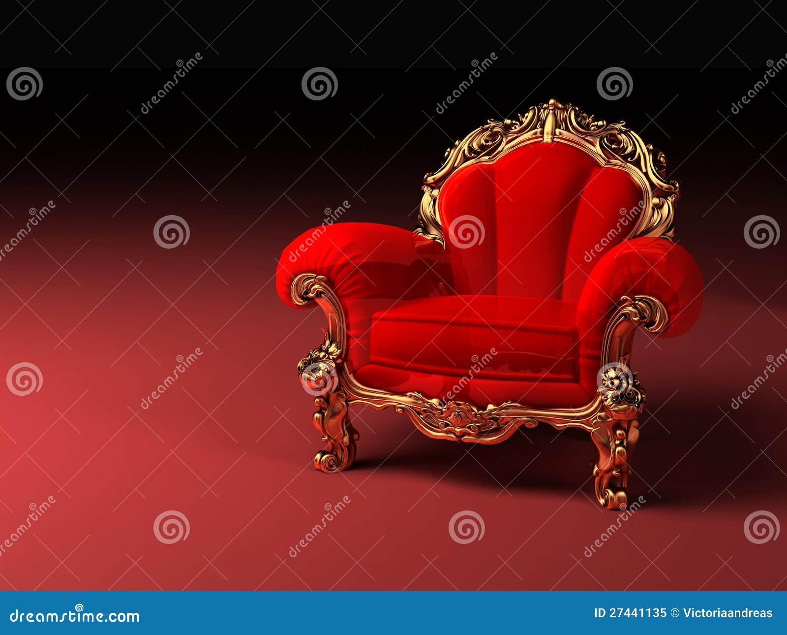 Rouge Royal La Fauteuil Avec Illustration Stock Trame XZiOkPu