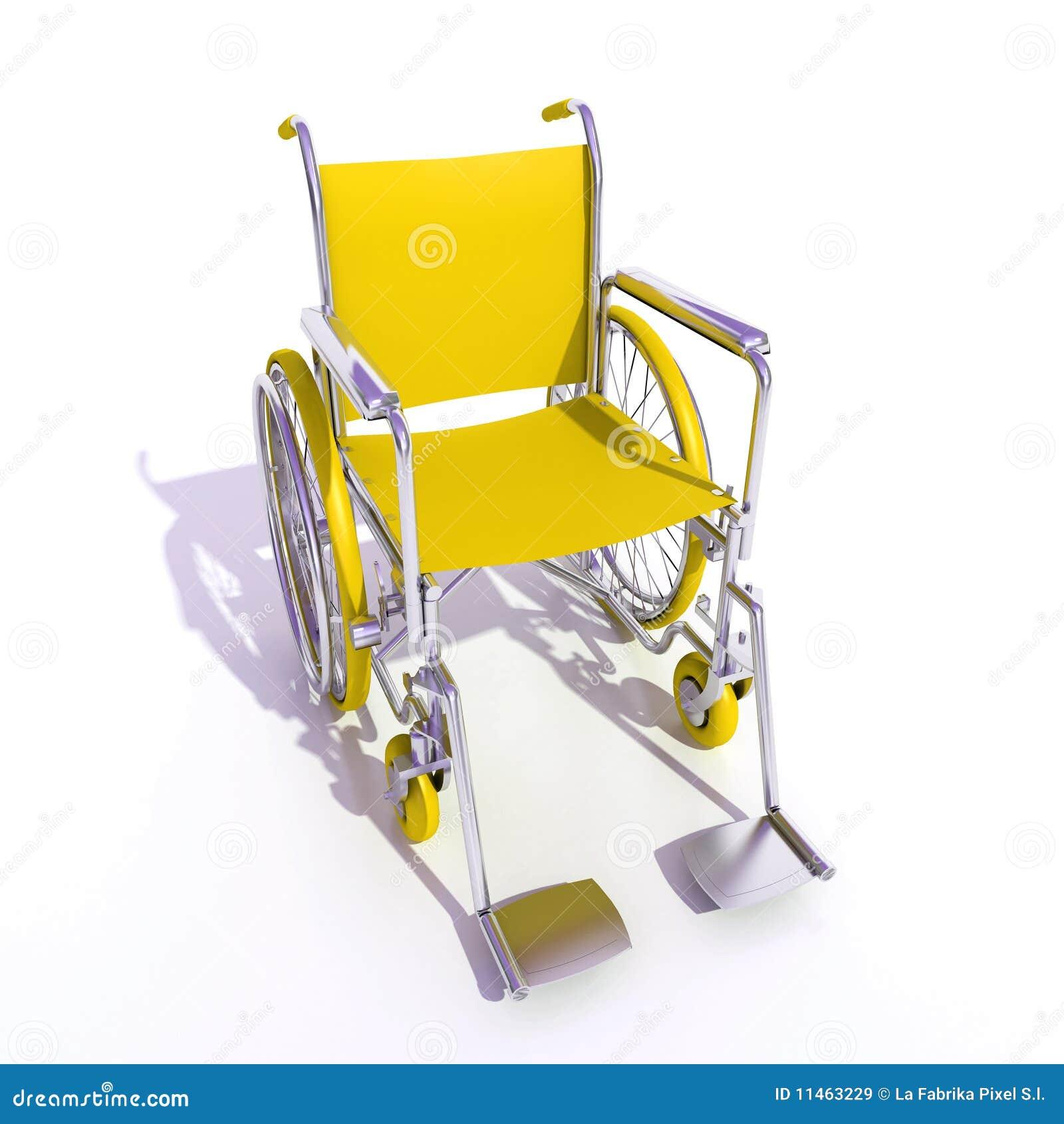 fauteuil roulant jaune images libres de droits image 11463229. Black Bedroom Furniture Sets. Home Design Ideas