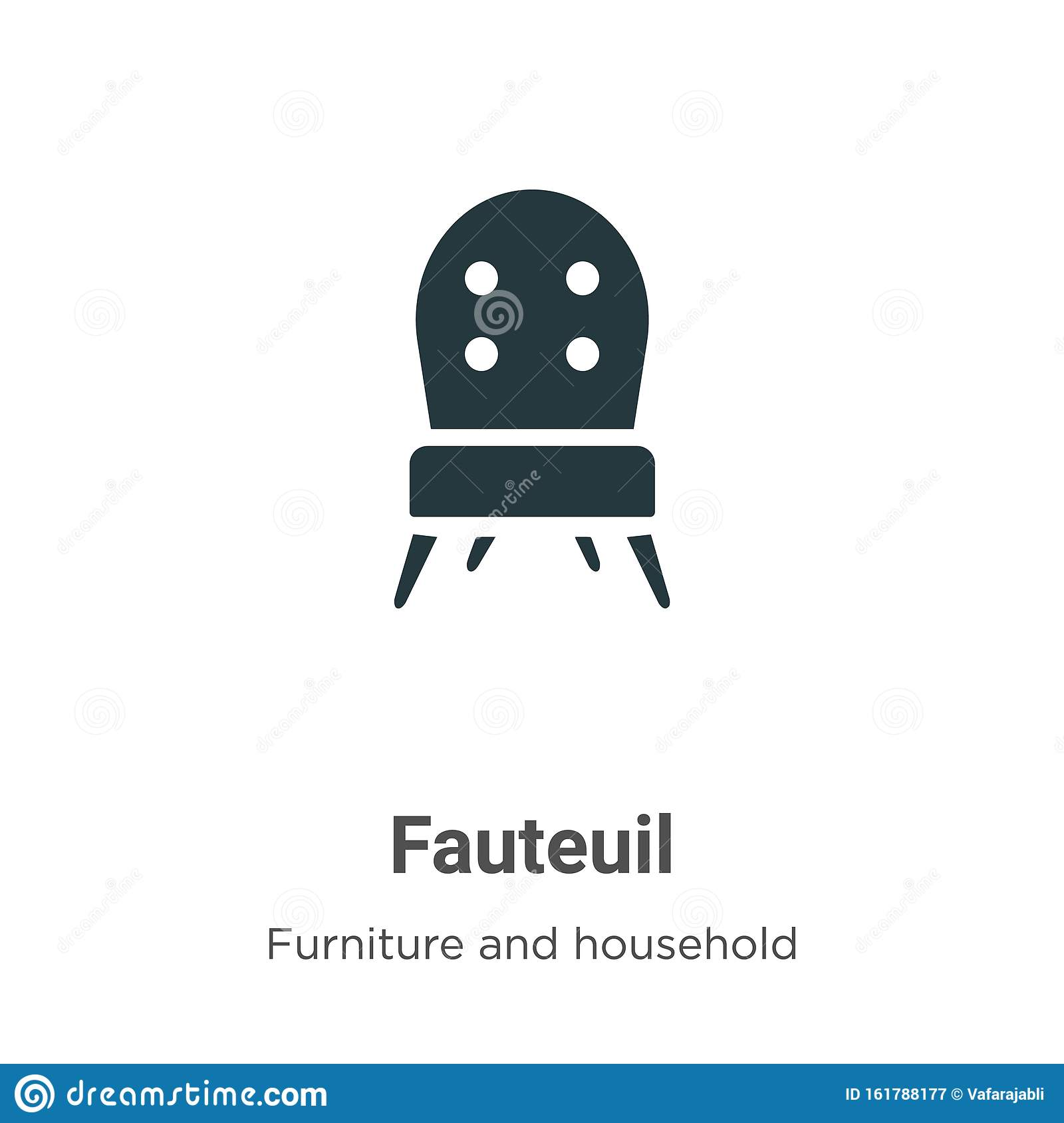 Modern Design Fauteuil.Fauteuil Vector Icon On White Background Flat Vector Fauteuil
