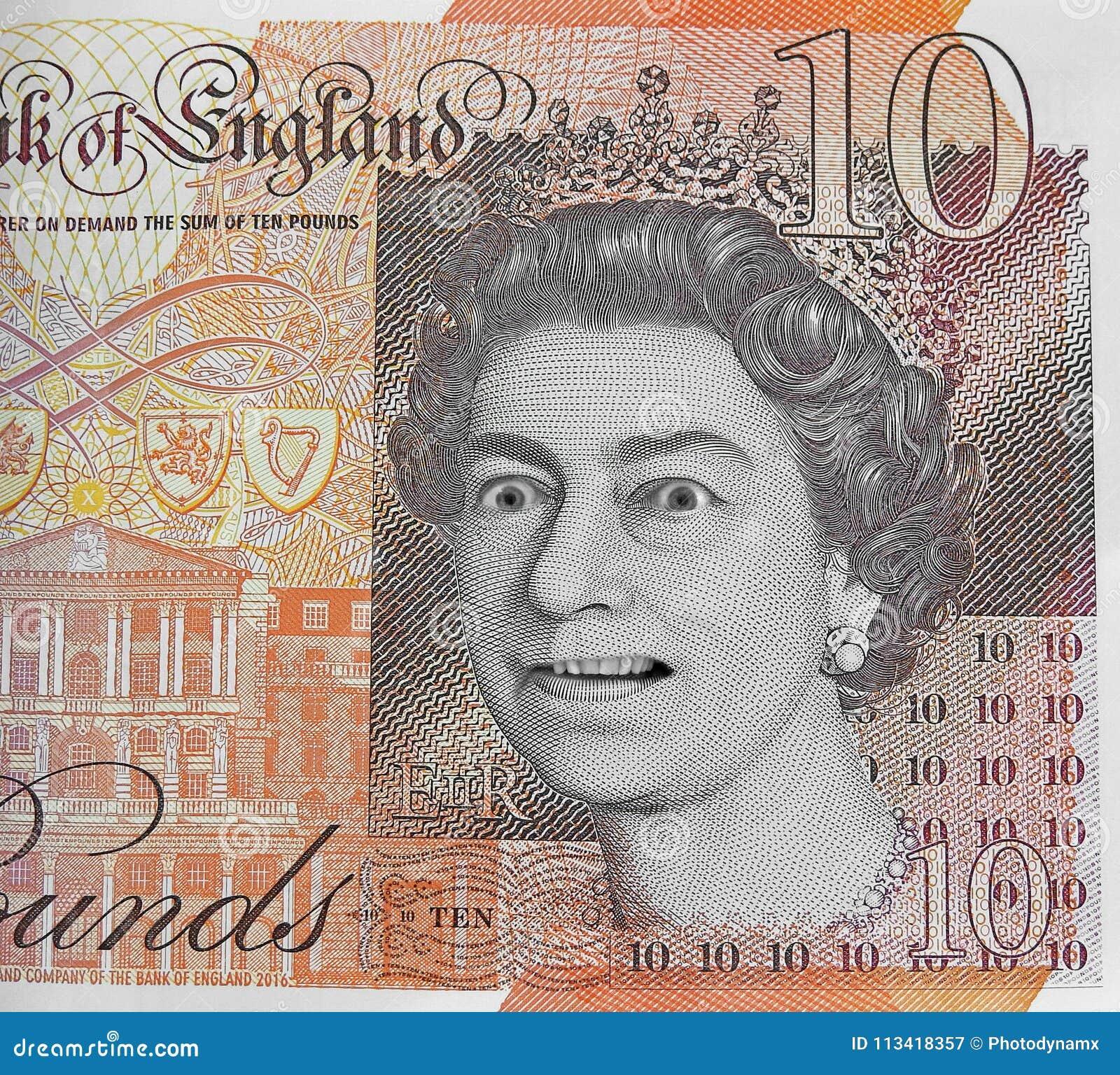 Faux argent de devise de note de dix livres