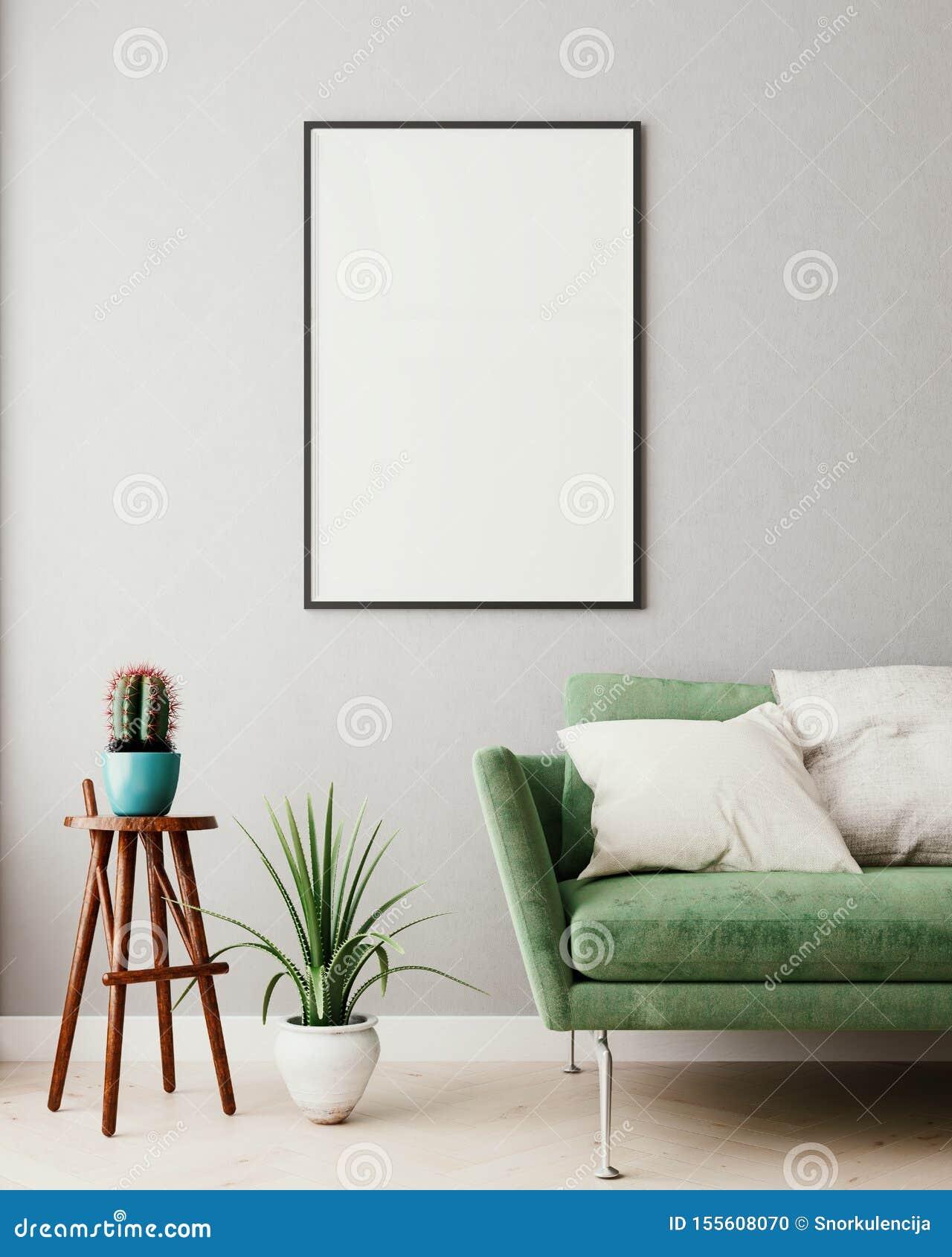 Faux Cadre Haut Vertical D\'affiche à L\'arrière-plan ...