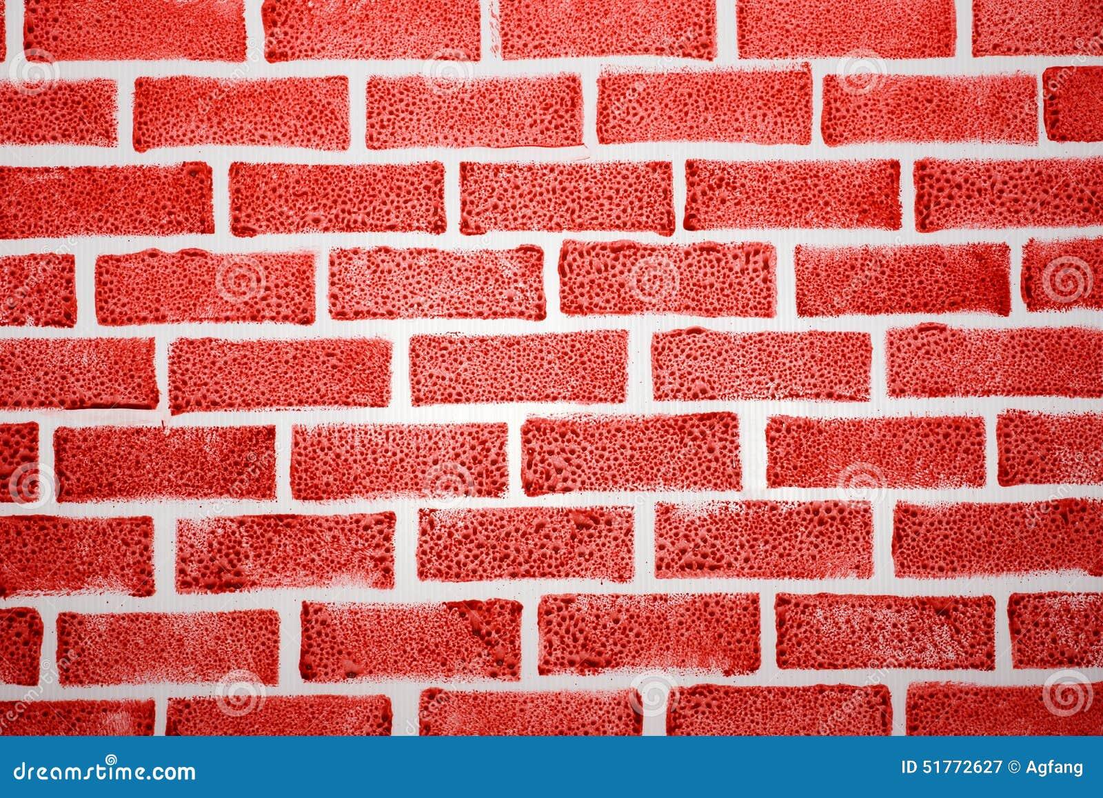 faux fond de brique rouge illustration stock illustration du peinture 51772627. Black Bedroom Furniture Sets. Home Design Ideas