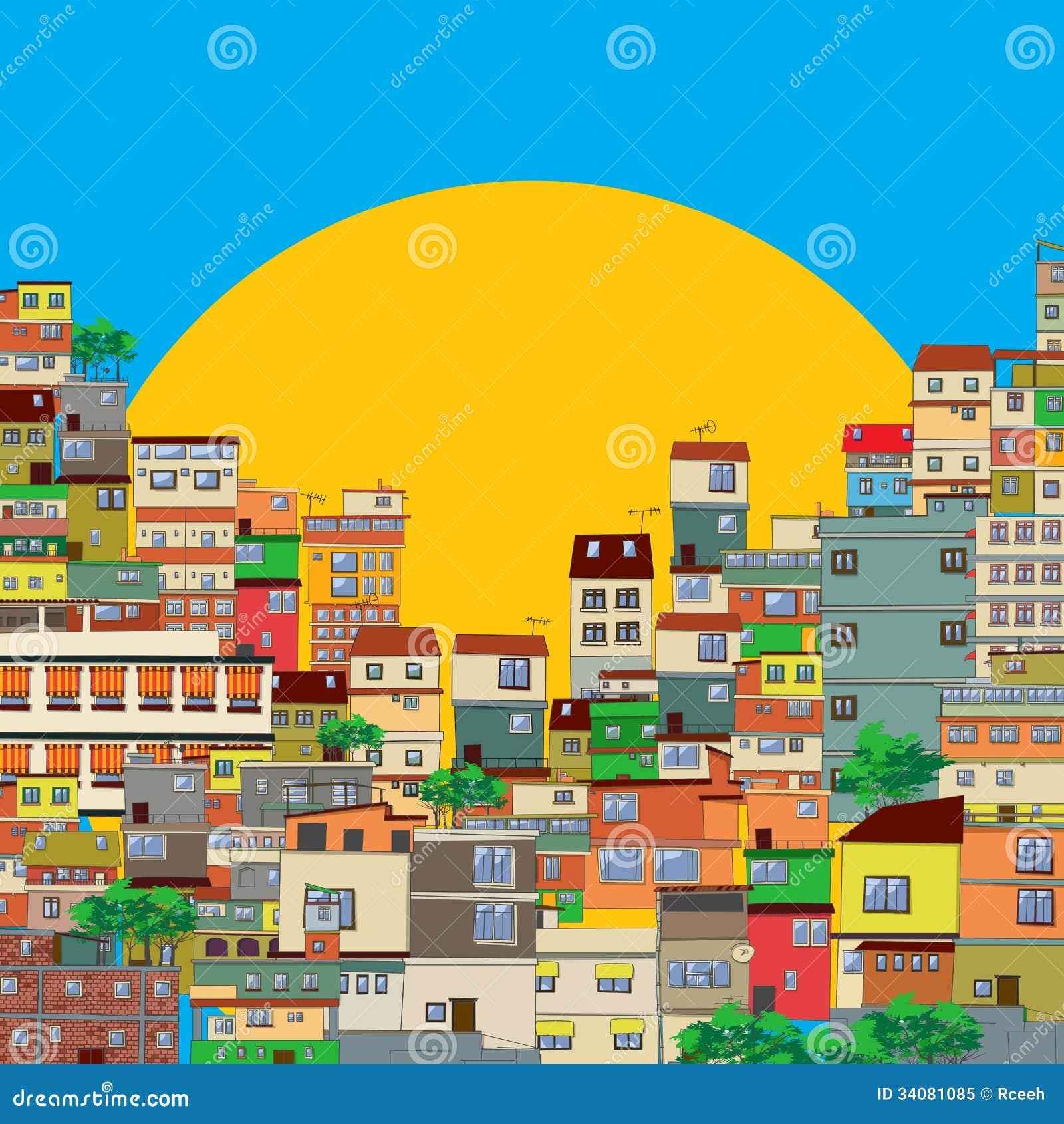 Favela Foto de Stock Royalty Free - Imagem: 34081085