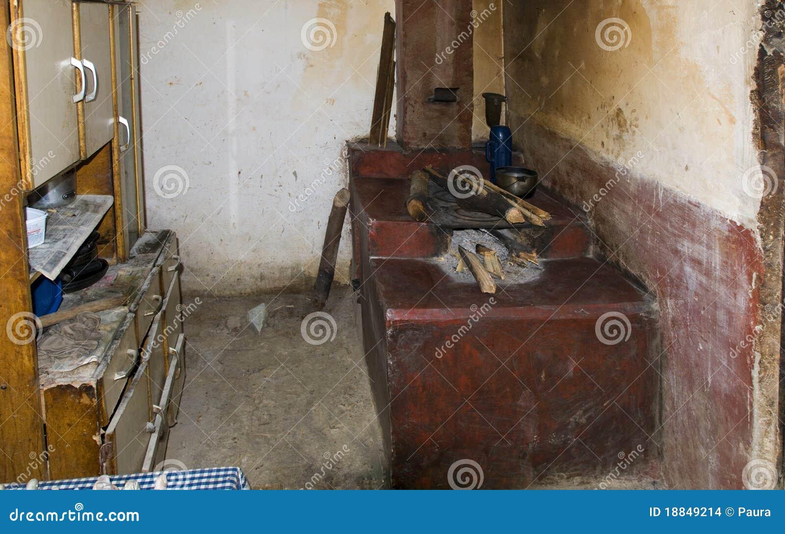 Una scena tipica di una casa molto difficile all'interno del brasile