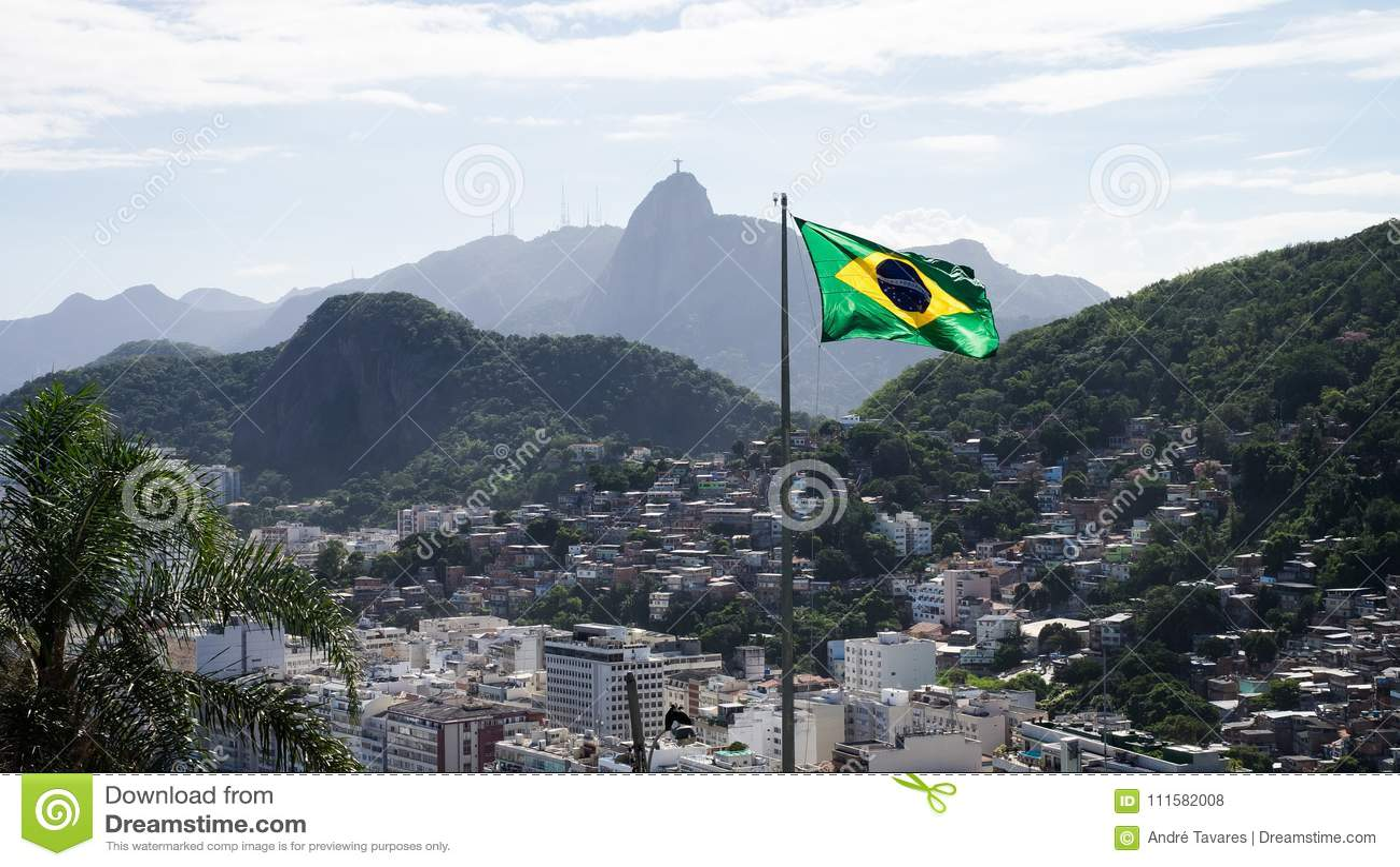 Favela dans Copacabana, Rio de Janeiro, Brésil