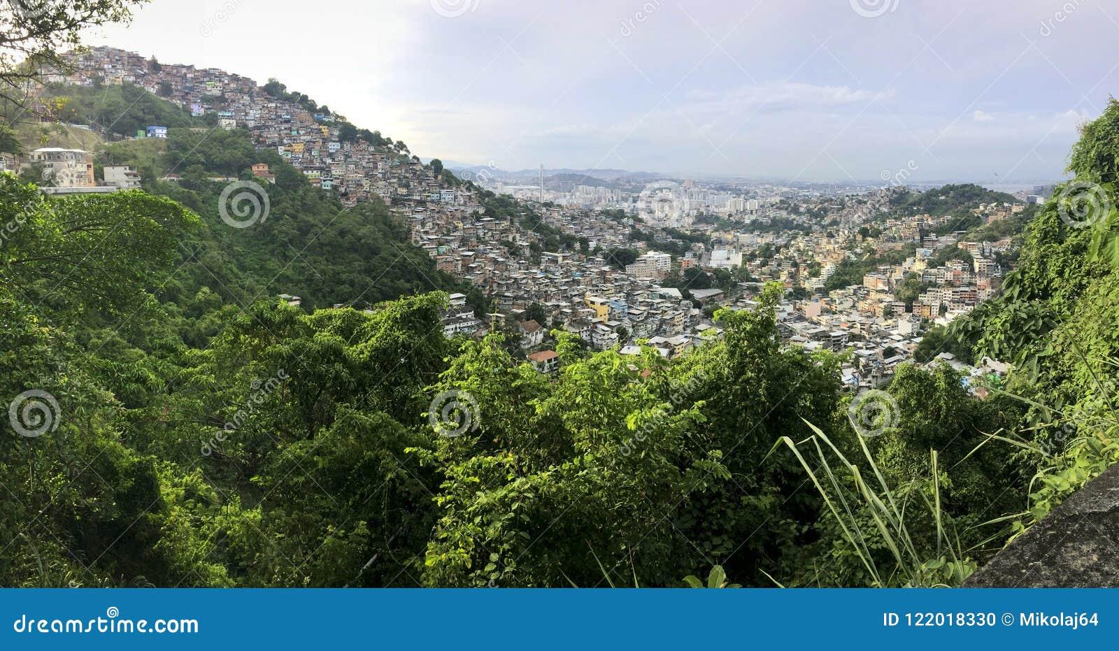 Favela Morro dos Prazeres w Rio De Janeiro