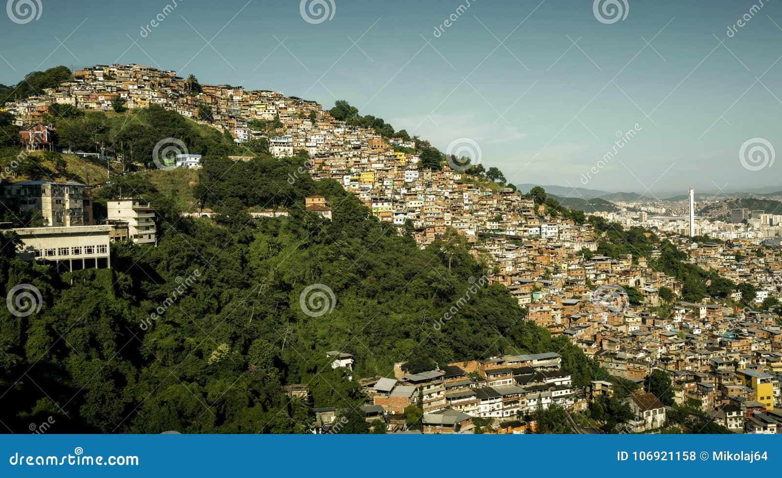 Favela Morro dos Prazeres w Rio De Janeiro, Brazylia