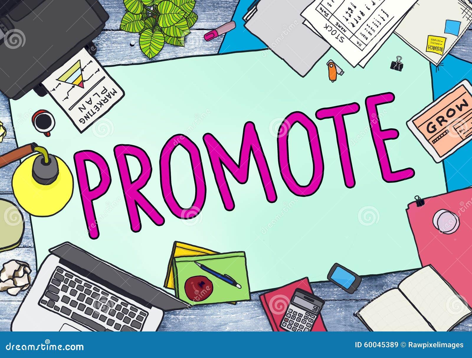 favorisez le concept commercial de promotion de plan marketing