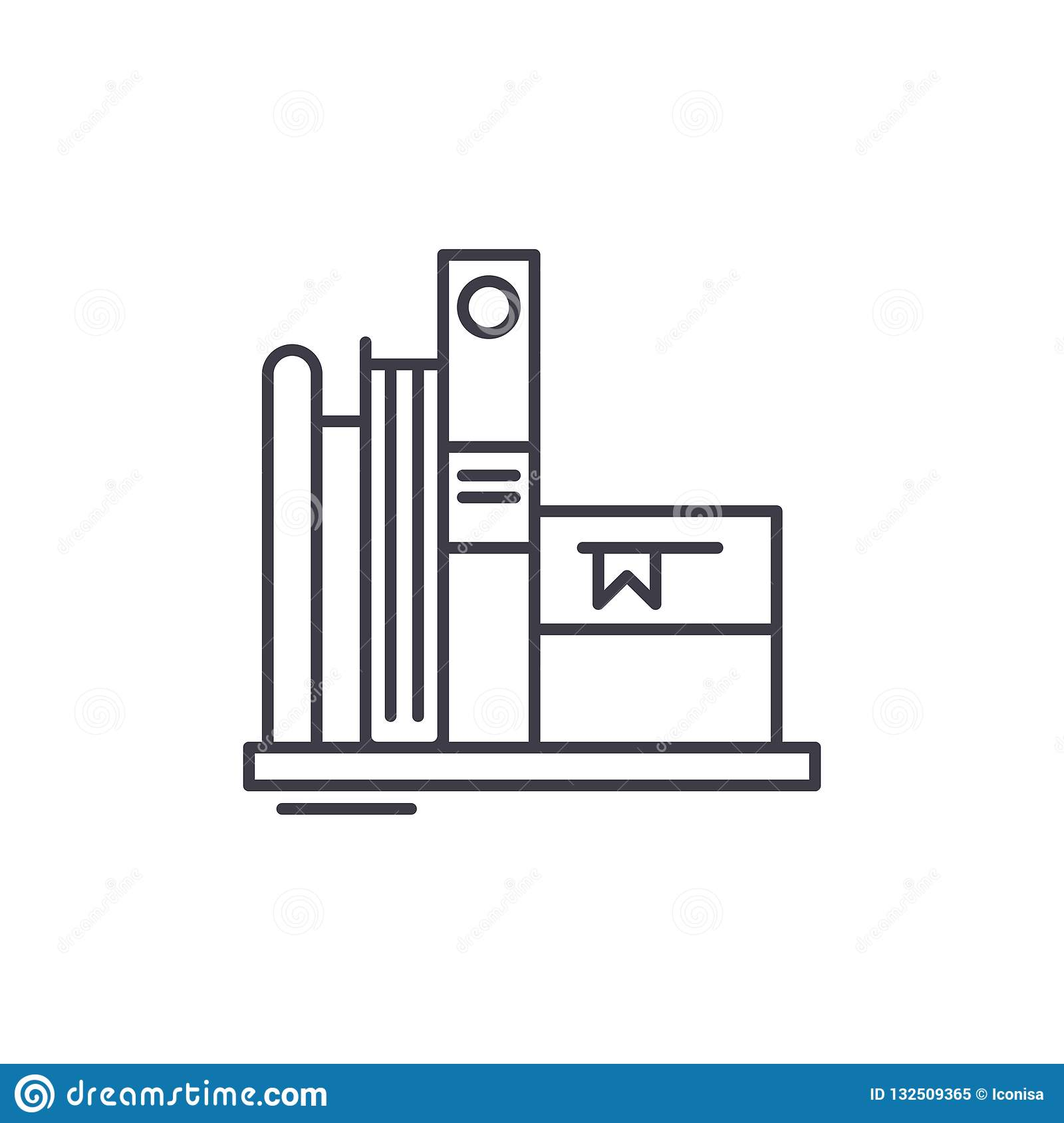 Favorite books line icon concept. Favorite books vector linear illustration, symbol, sign