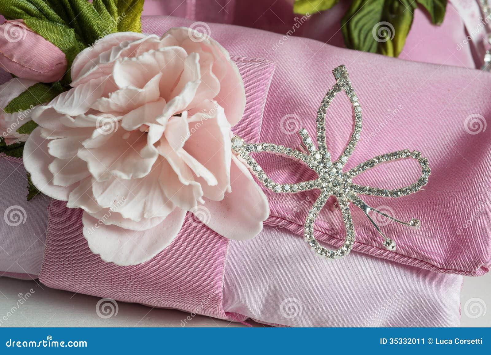 Favors - Bomboniere stock image. Image of table, ribbon - 35332011