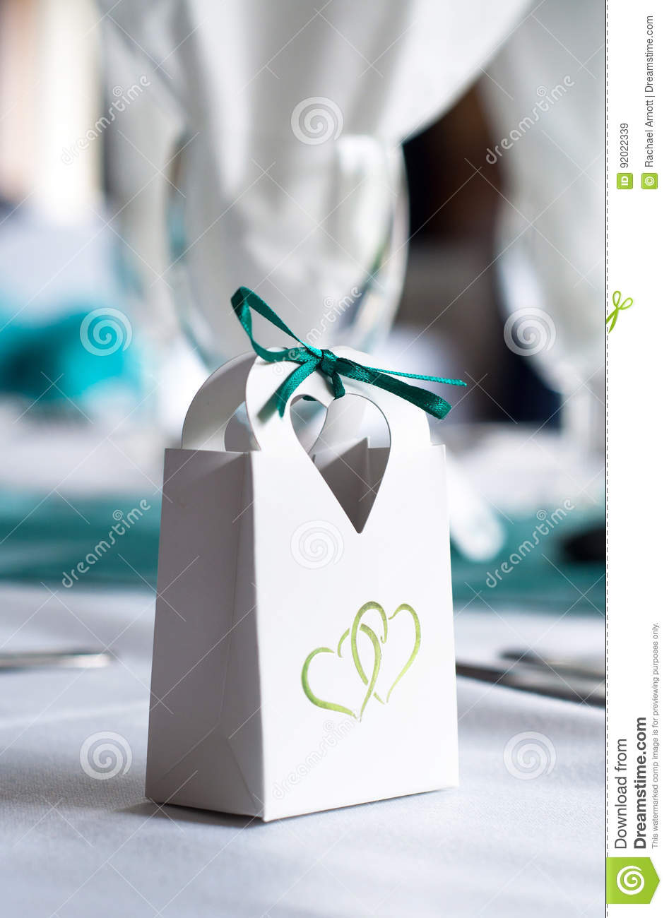 Favour Bag at a Wedding stock image. Image of decoration - 92022339