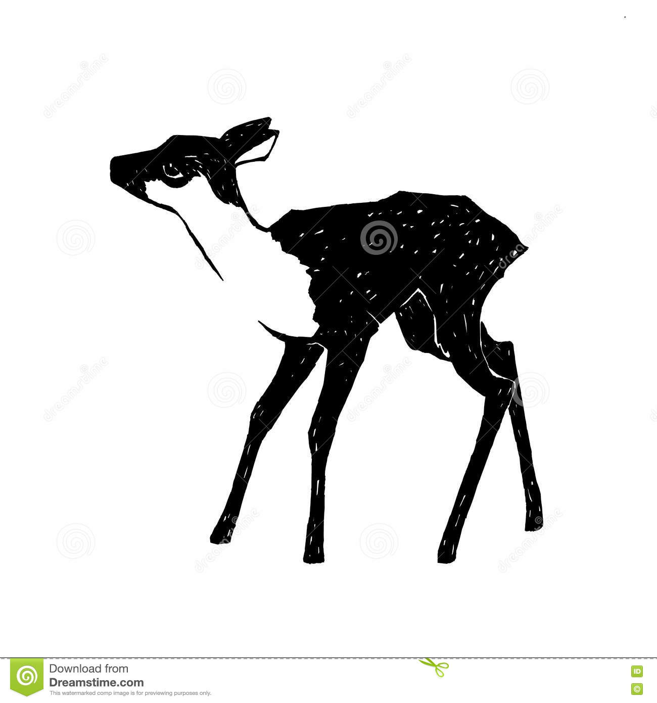 Fawn illustration stock illustration. Illustration of ...