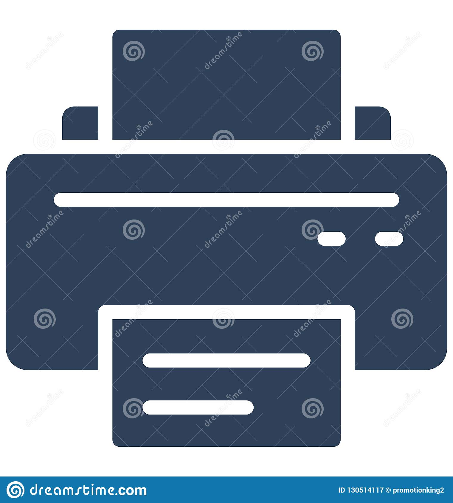 Fax, inkjet printers Isolated Vector Icon That can be easily edited in any size or modified.