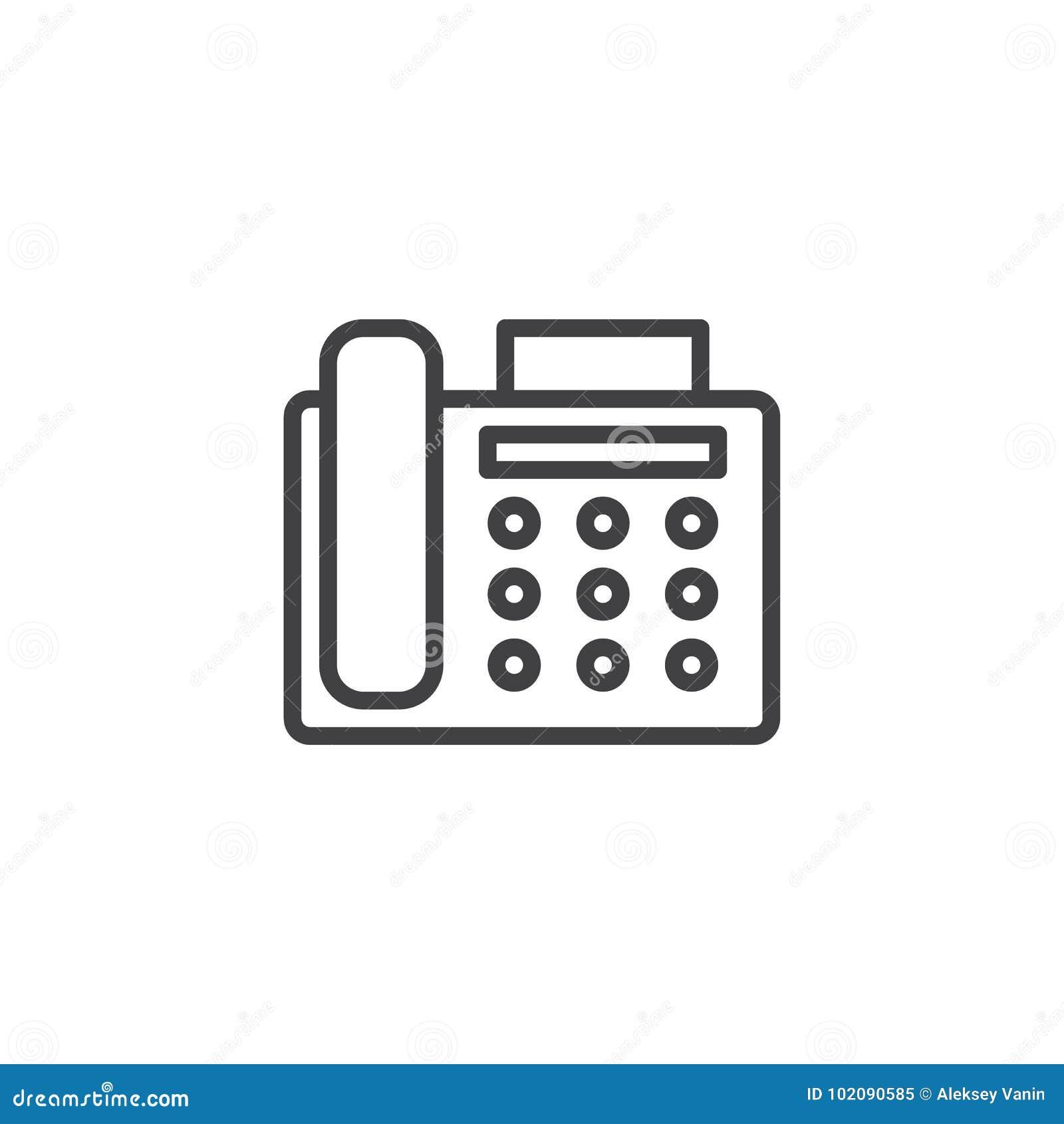 Fax machine line icon stock vector illustration of flat 102090585 fax machine line icon sciox Gallery