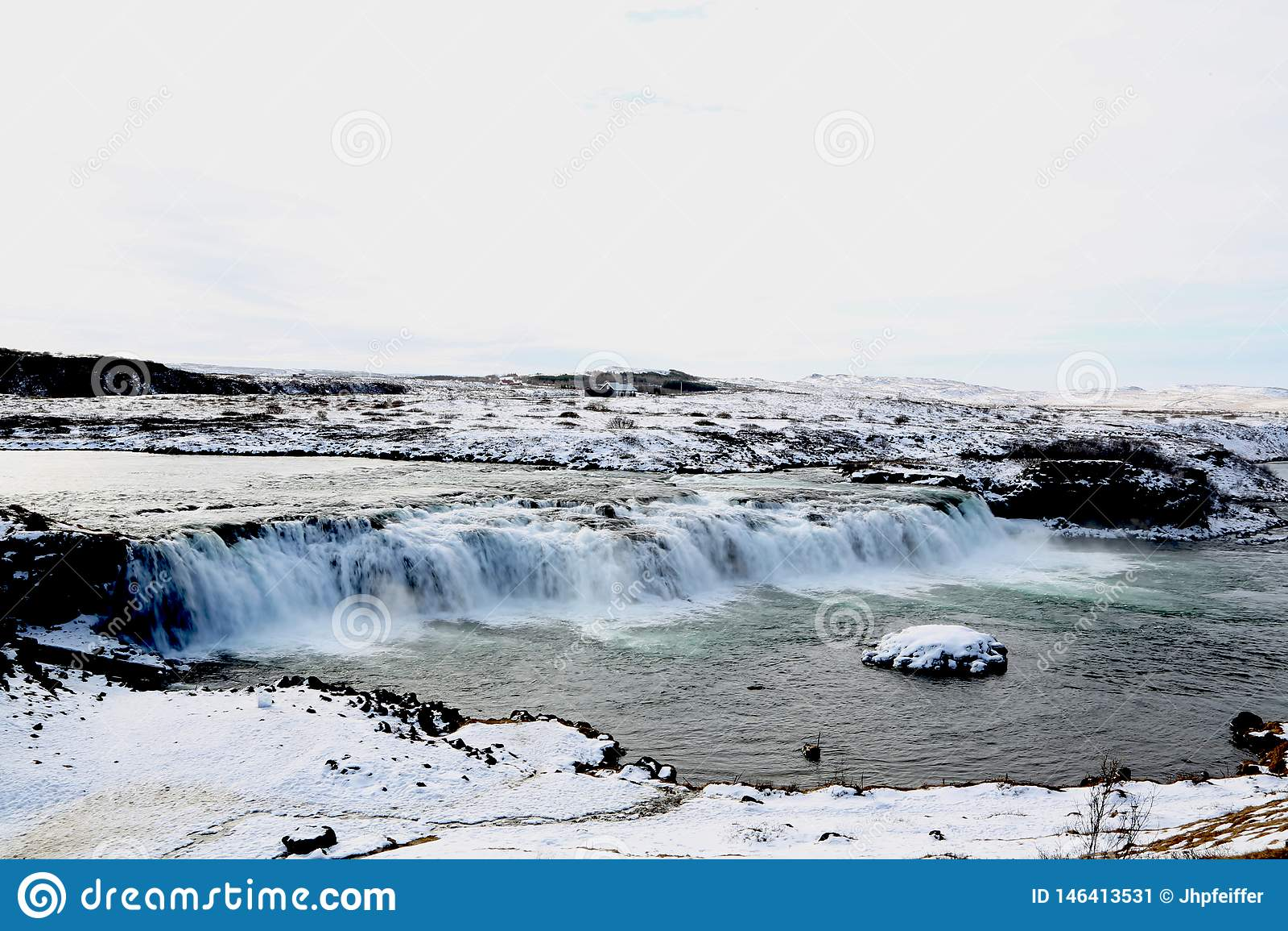 Faxifoss-Wasserfall, goldener Kreis, Island