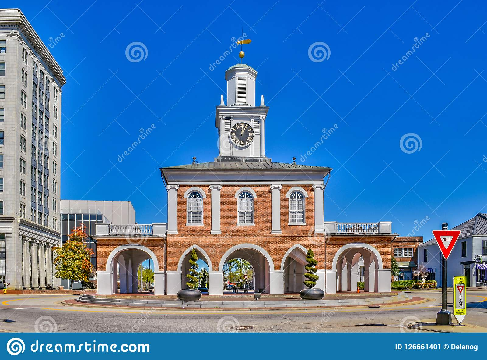 Fayetteville North Carolina Market House Stock Image - Image of