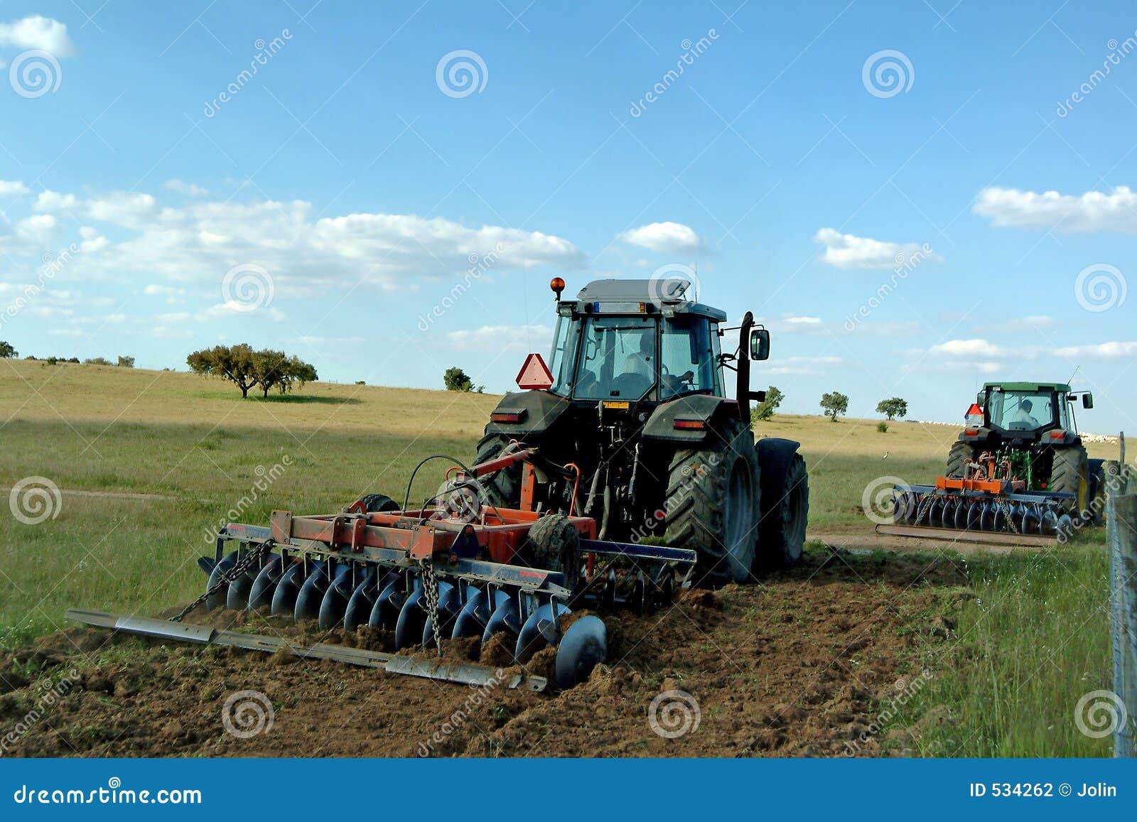 Fazendeiros que cultivam