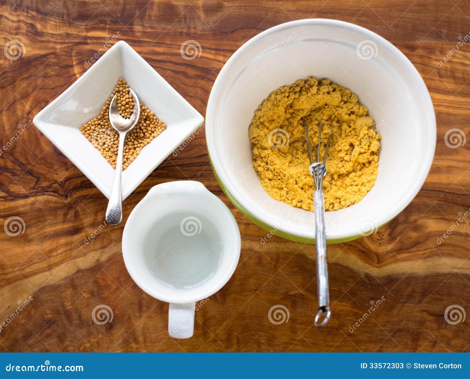 Fazendo a mostarda das sementes