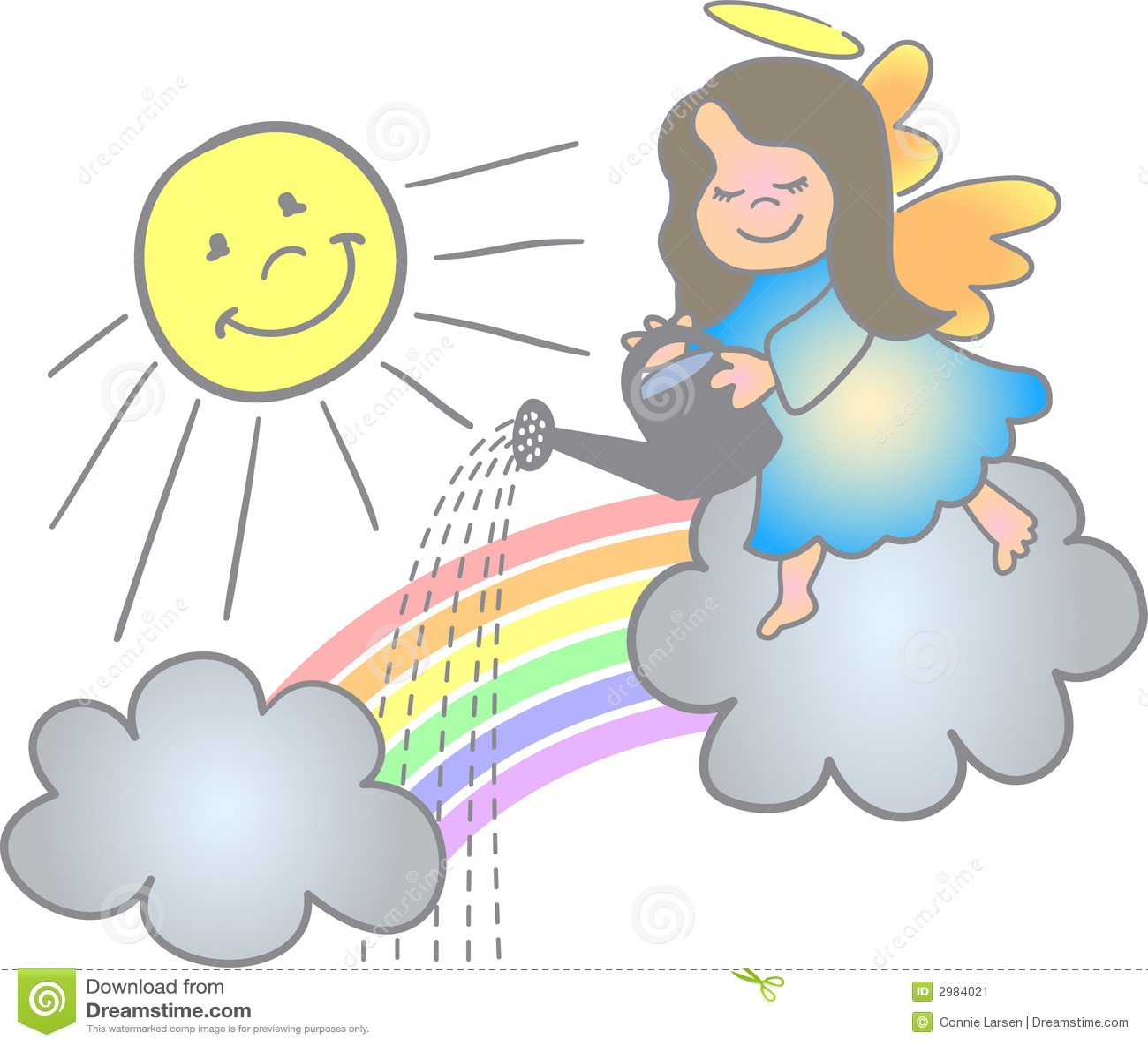 Fazendo um anjo do arco-íris/eps