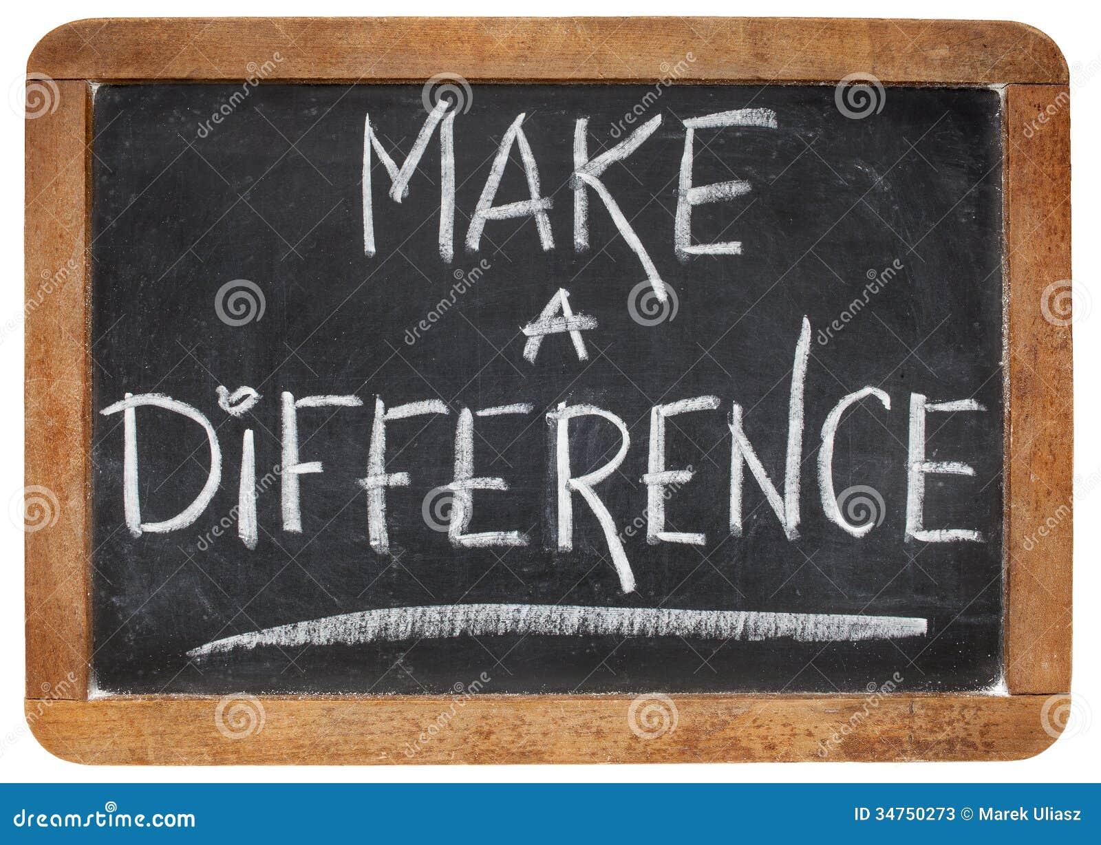 Fazer a diferença