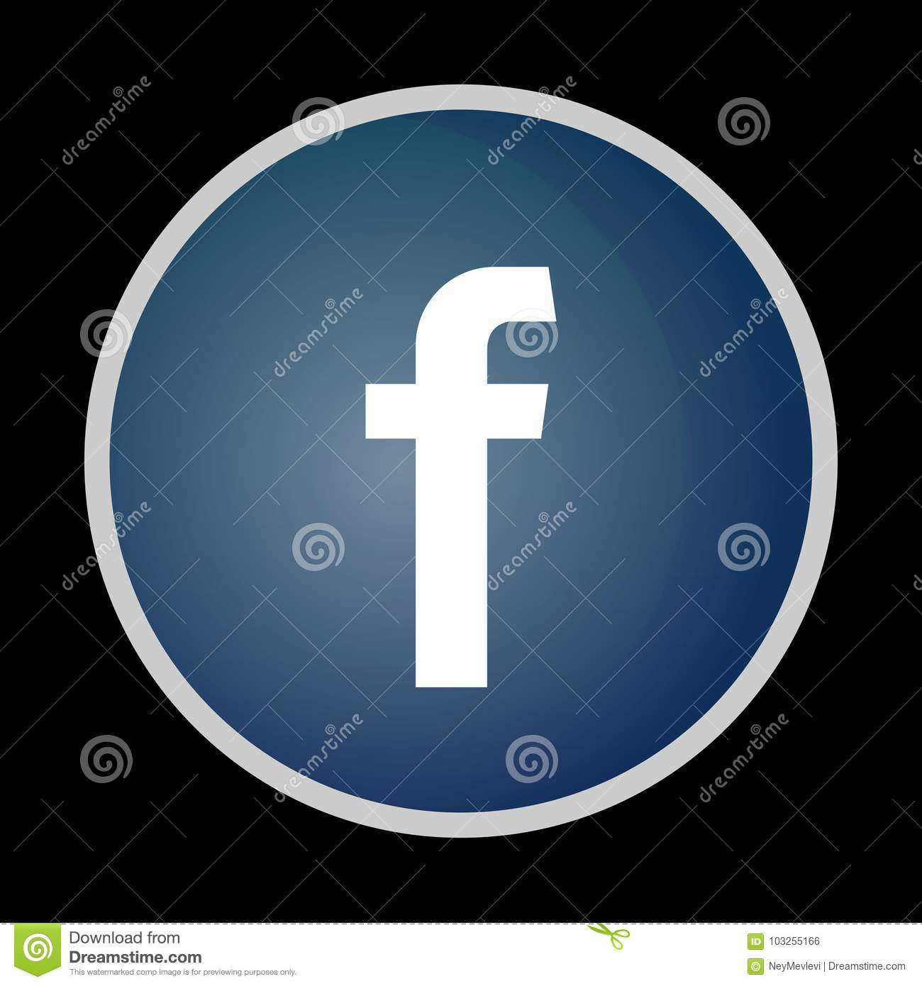 Facebook iconsymbolthumbnailbutton black isolated editorial photo facebook iconsymbolthumbnailbutton black isolated buycottarizona Image collections