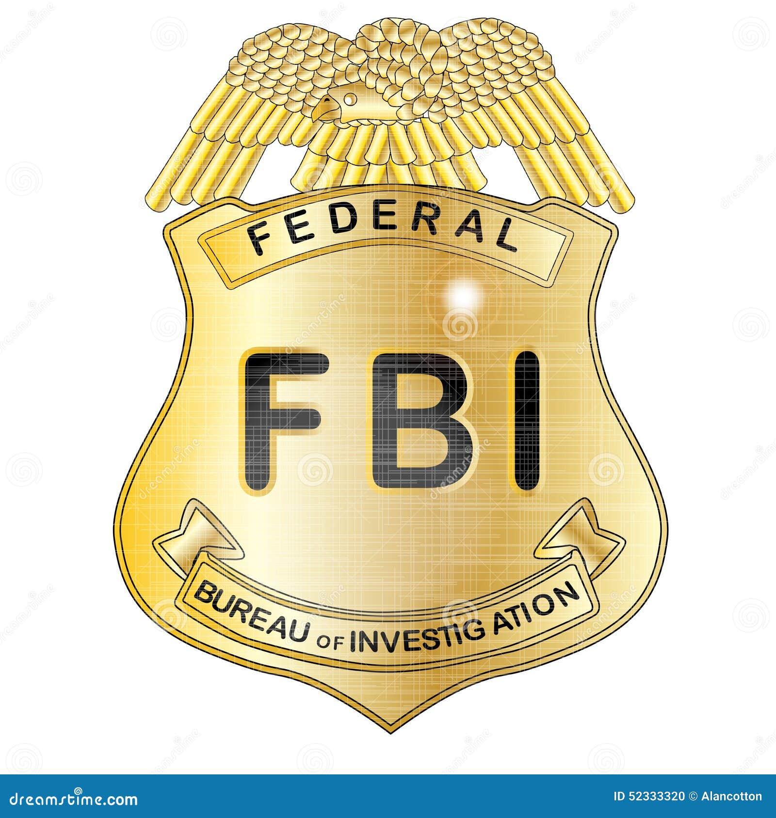 FBI Badge Stock Illustration